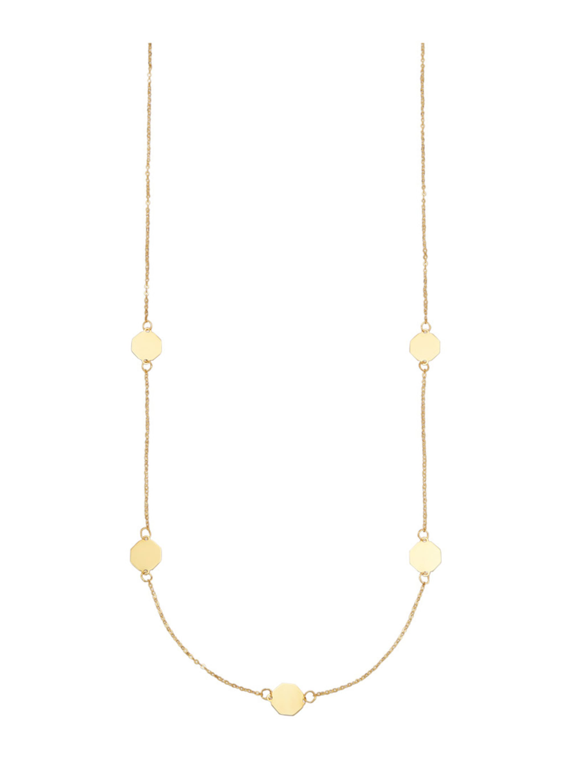 Collier in Gelbgold 375 v8upN