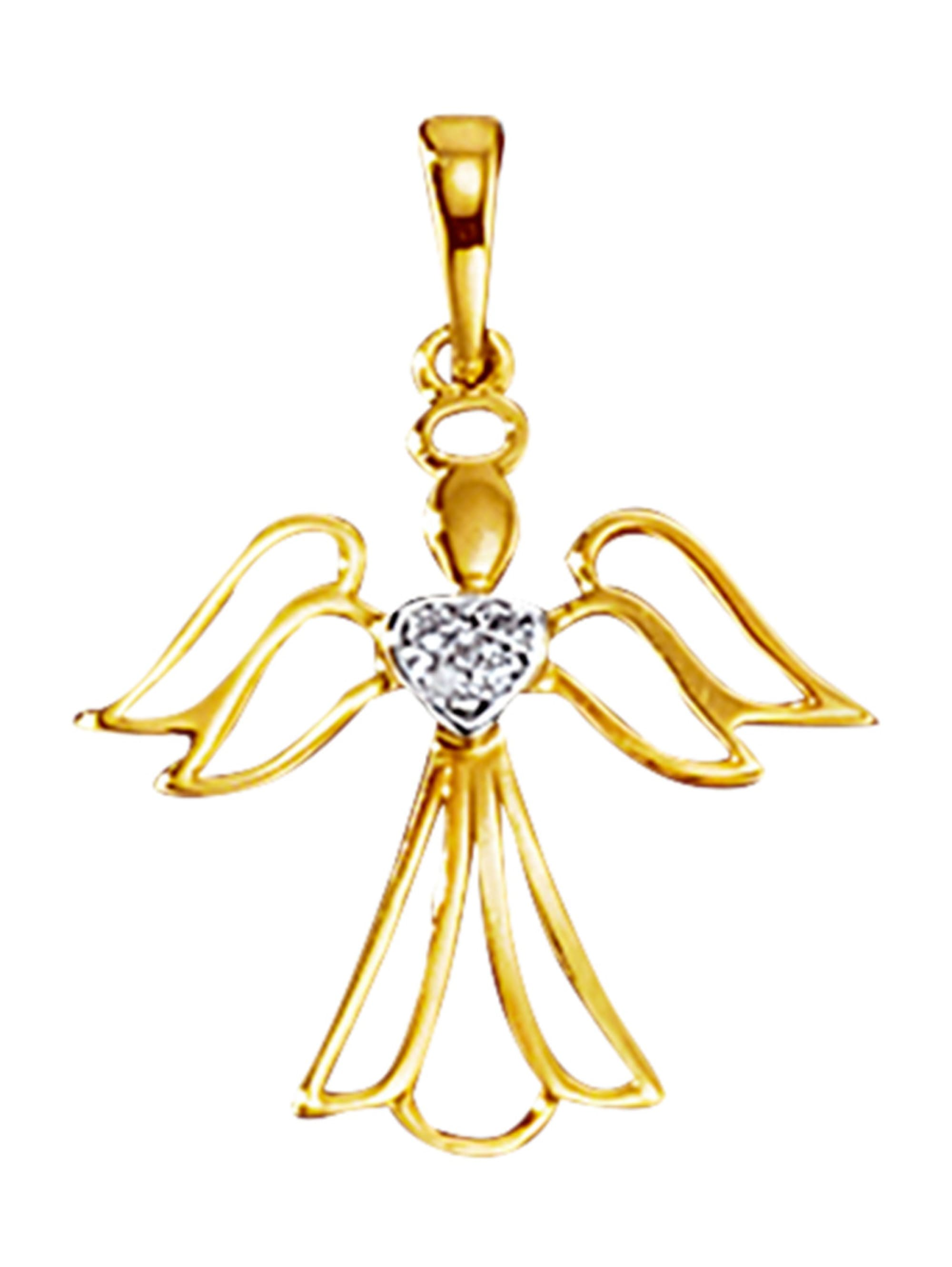 Engel-Anhänger mit Diamanten D6Nbe