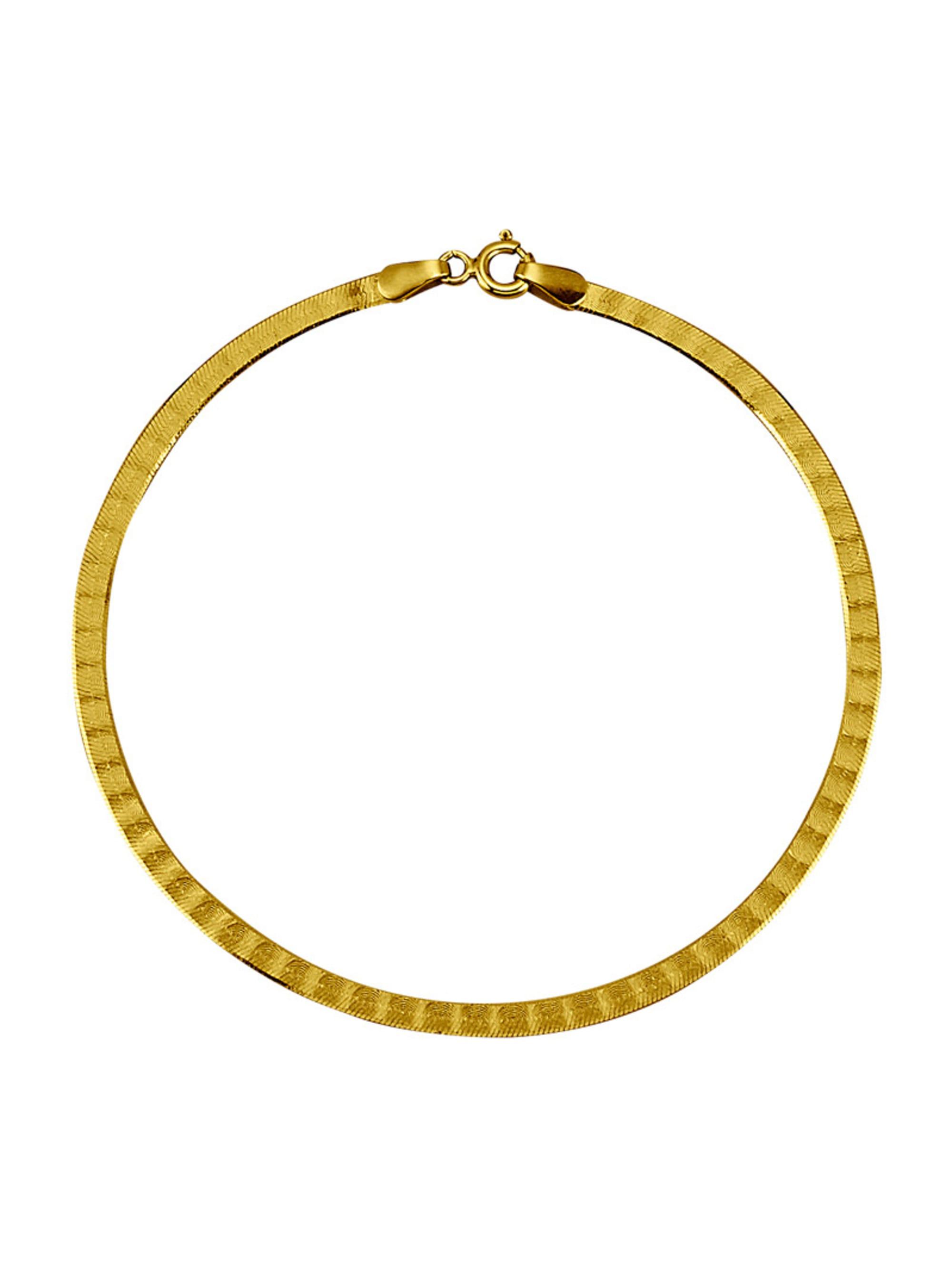 Herringbone-Armband in Massiv Gelbgold 333 Q1mDW