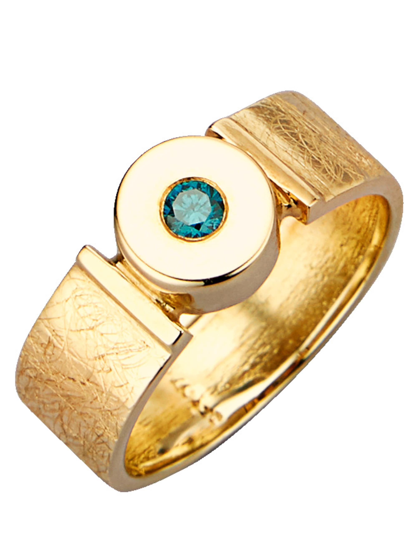 Diemer Diamant Damenring mit blauem Brillant hnAIx