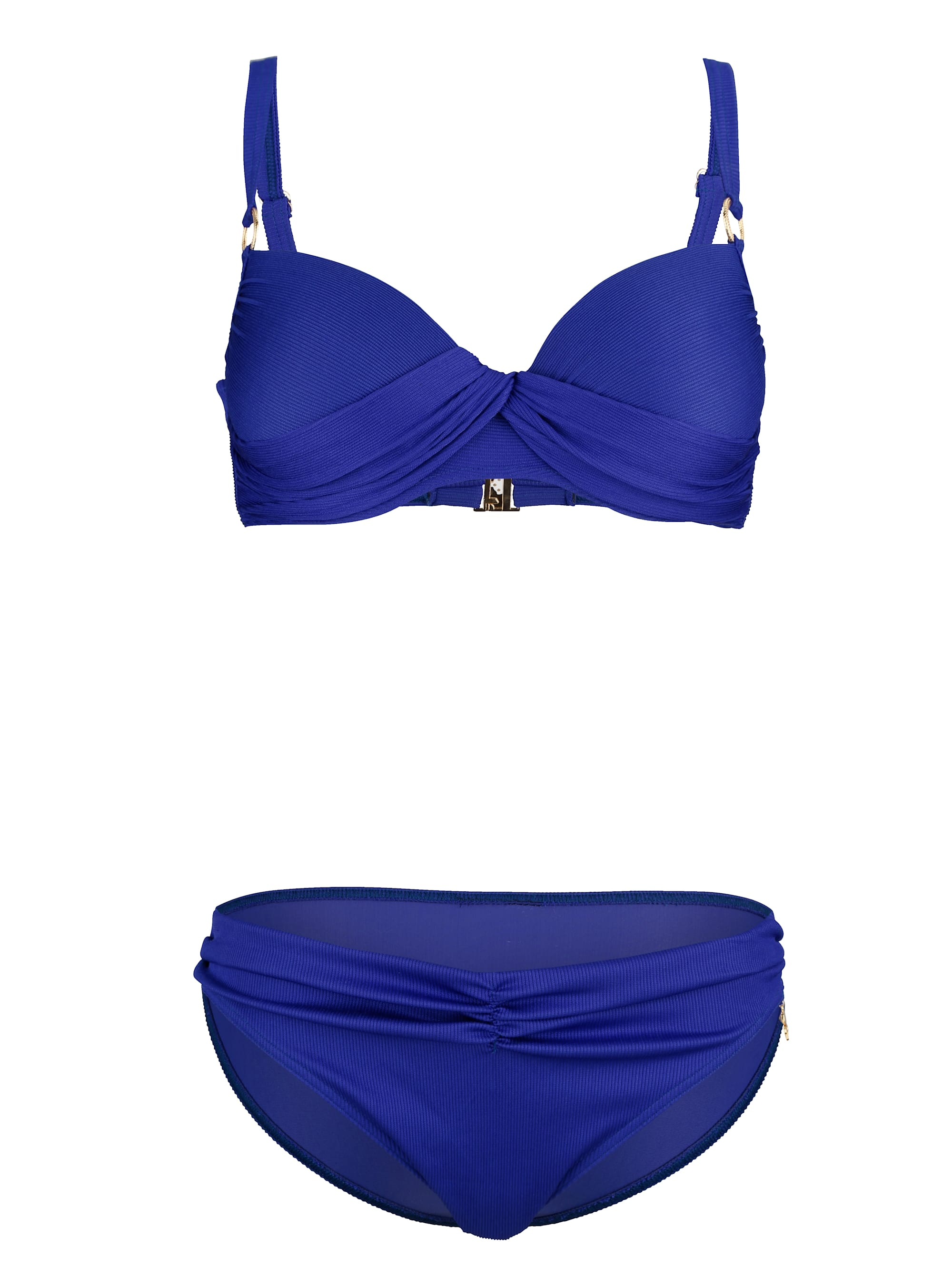 Opera PushUp-Bikini mit Rippmuster 2lmt3 1Zrxq