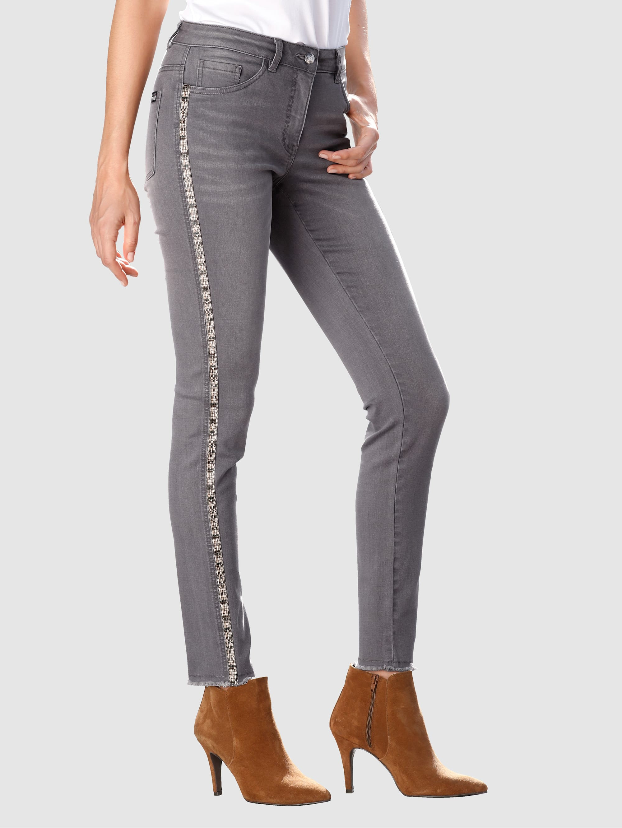 Laura Kent Jeans Laura Extra Slim - mit Zierband wCeLG 04nYT