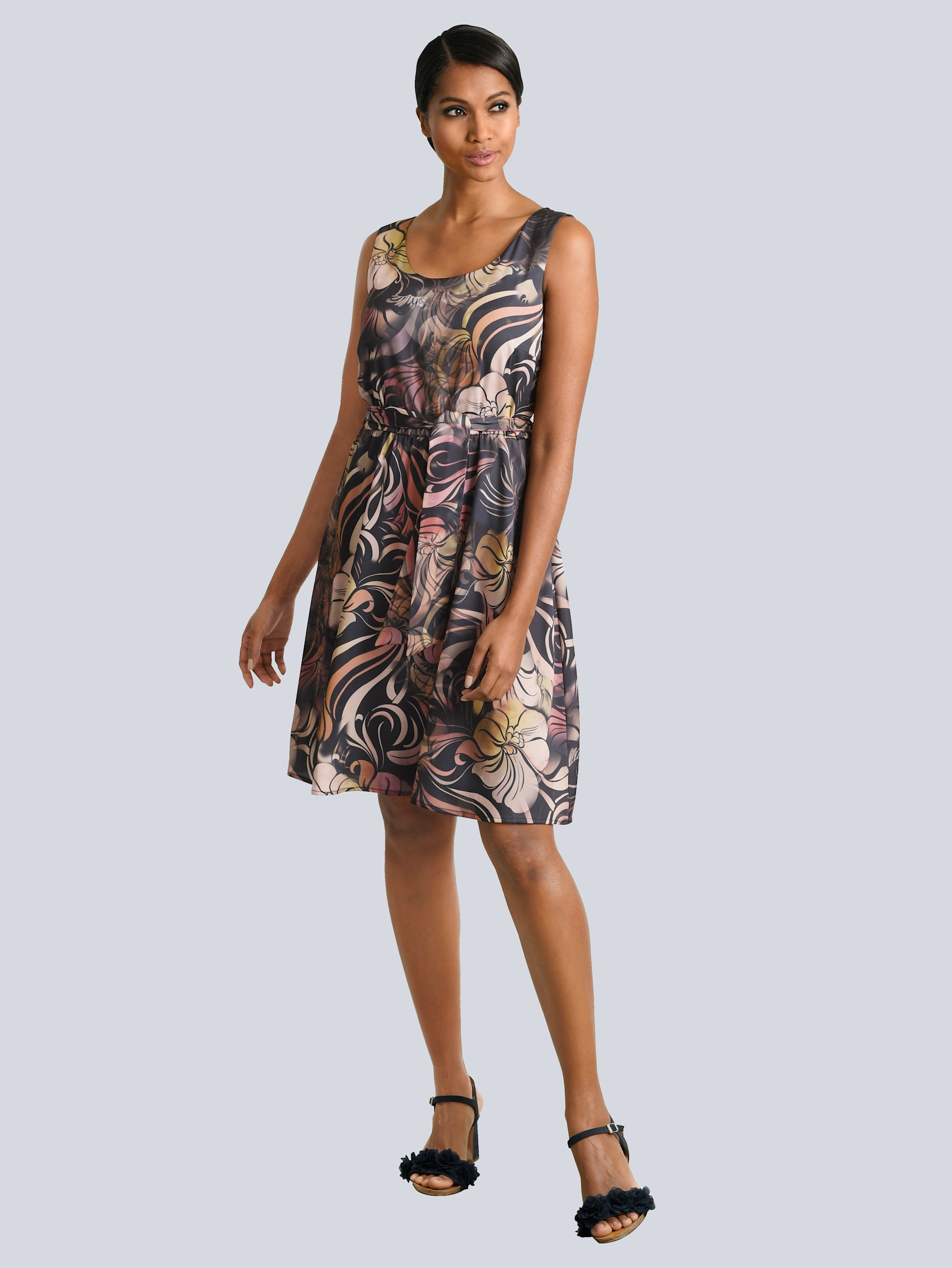 Alba Moda Kleid in tollem floralem Dessin qHrxO 3TqYp