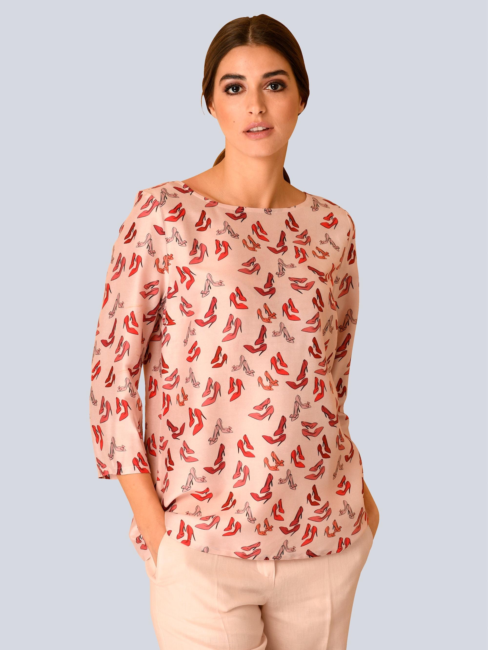 Alba Moda Bluse mit modischen Pumps Print rfBhS qhhkc