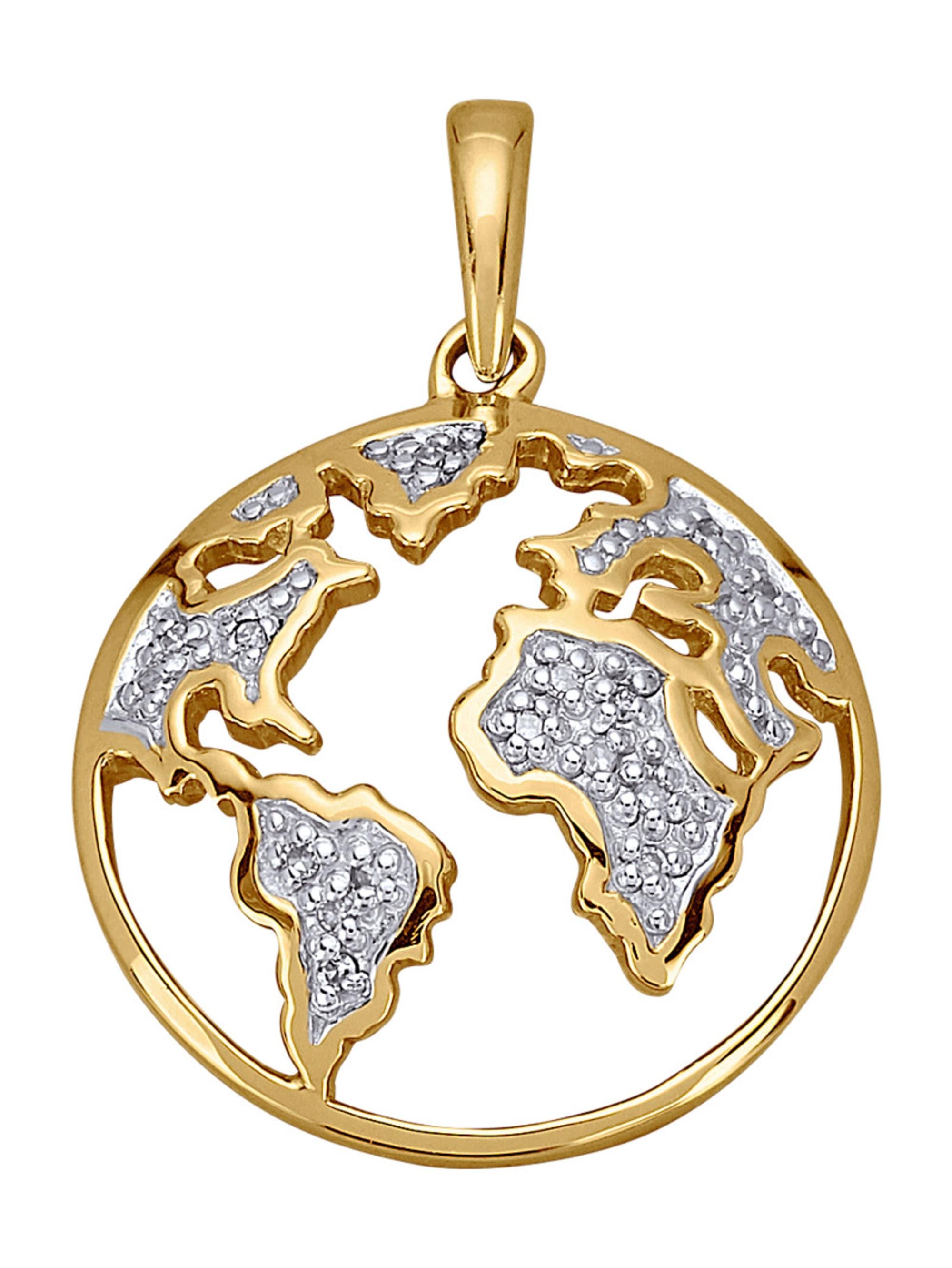 AMY VERMONT Weltkugel-Anhänger mit Diamanten IGawo