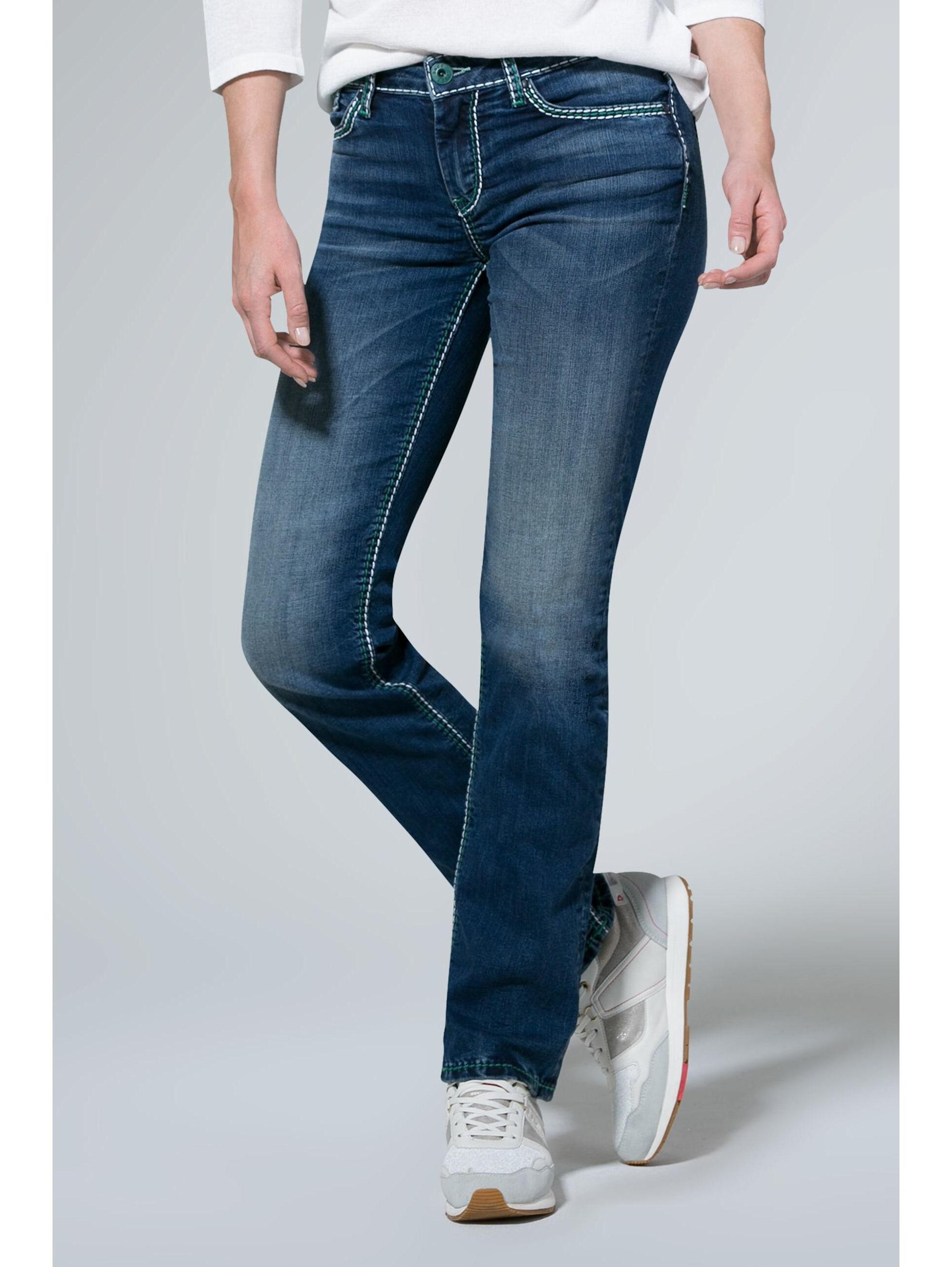 SOCCX Jeans CO:LE mit Kontrastnähten und Boot Cut YTJtj EwCyp
