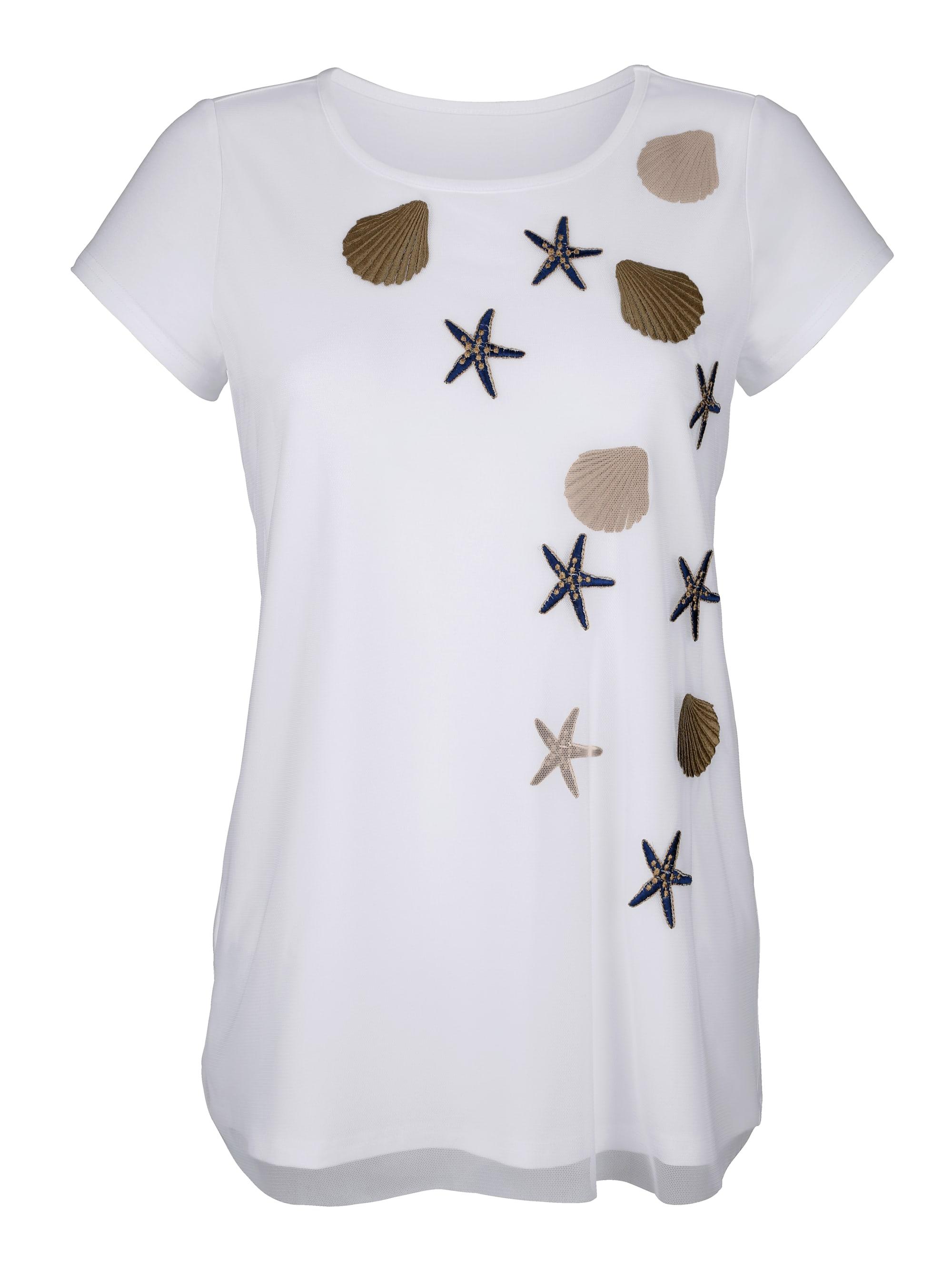 Alba Moda Shirt mit besticktem Vorderteil DUcuJ fn1R8
