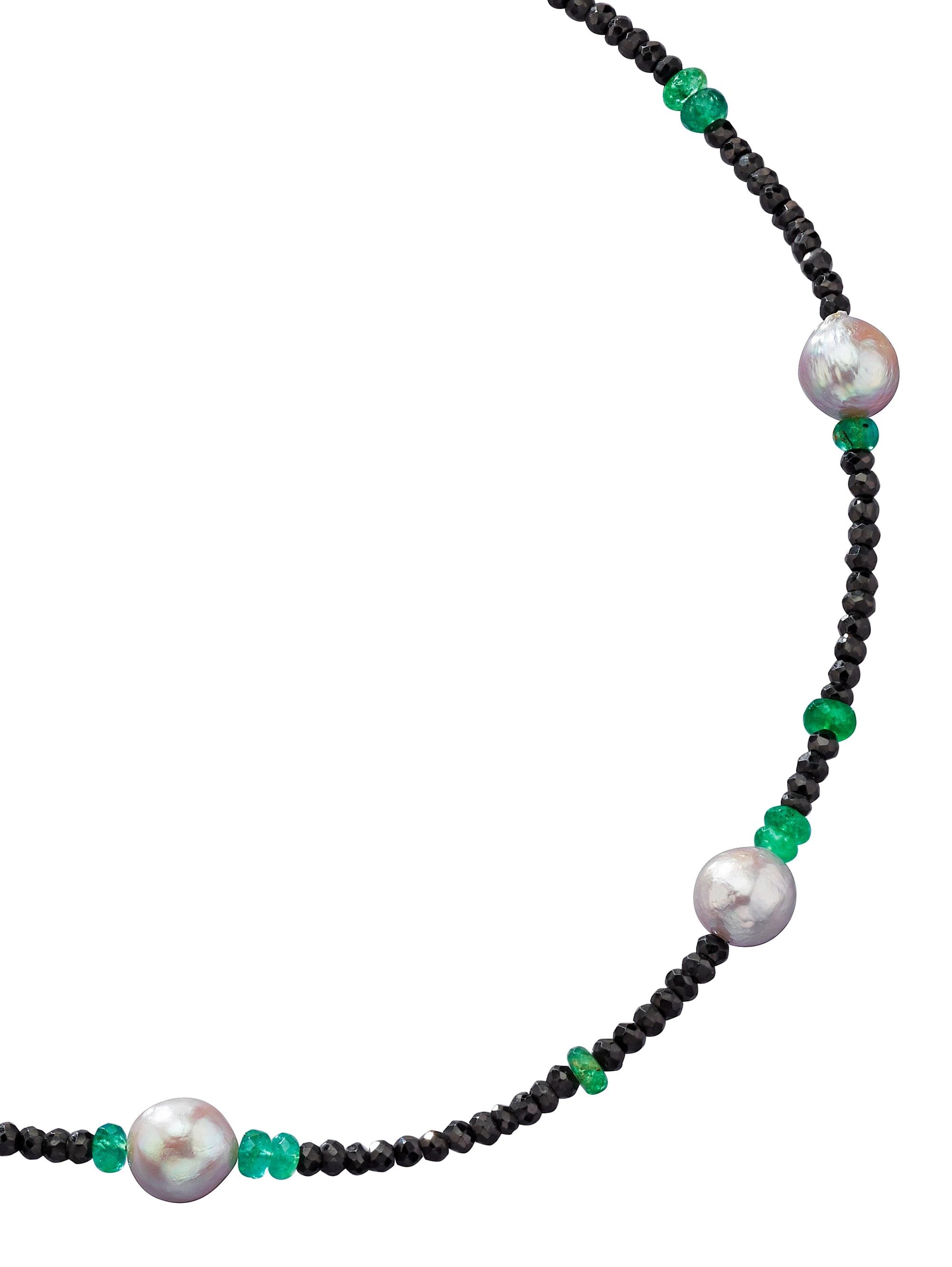 Diemer Farbstein Spinellkette mit Smaragden W2kn7