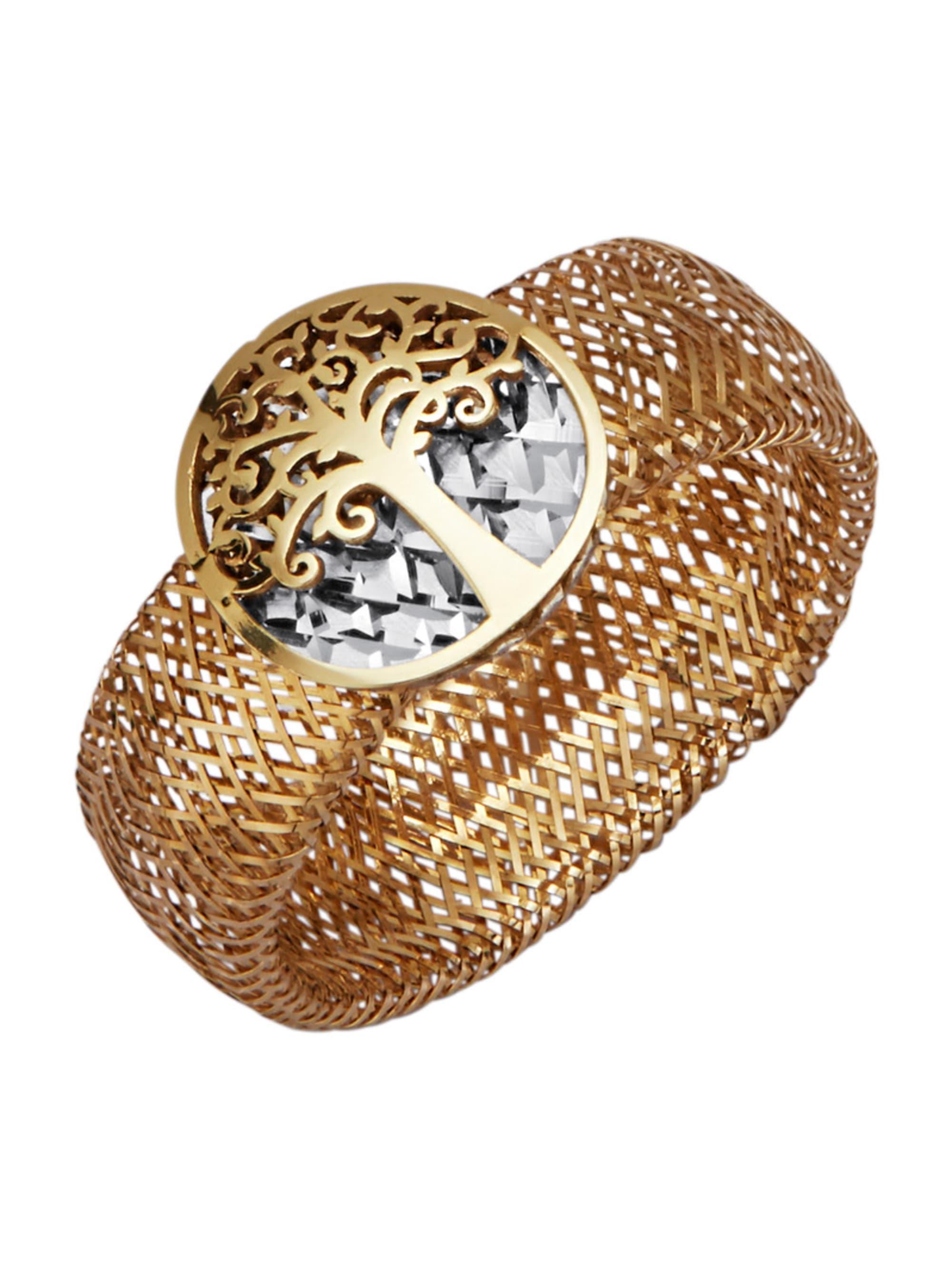 Mesh-Ring in Gelbgold 375 8geeE