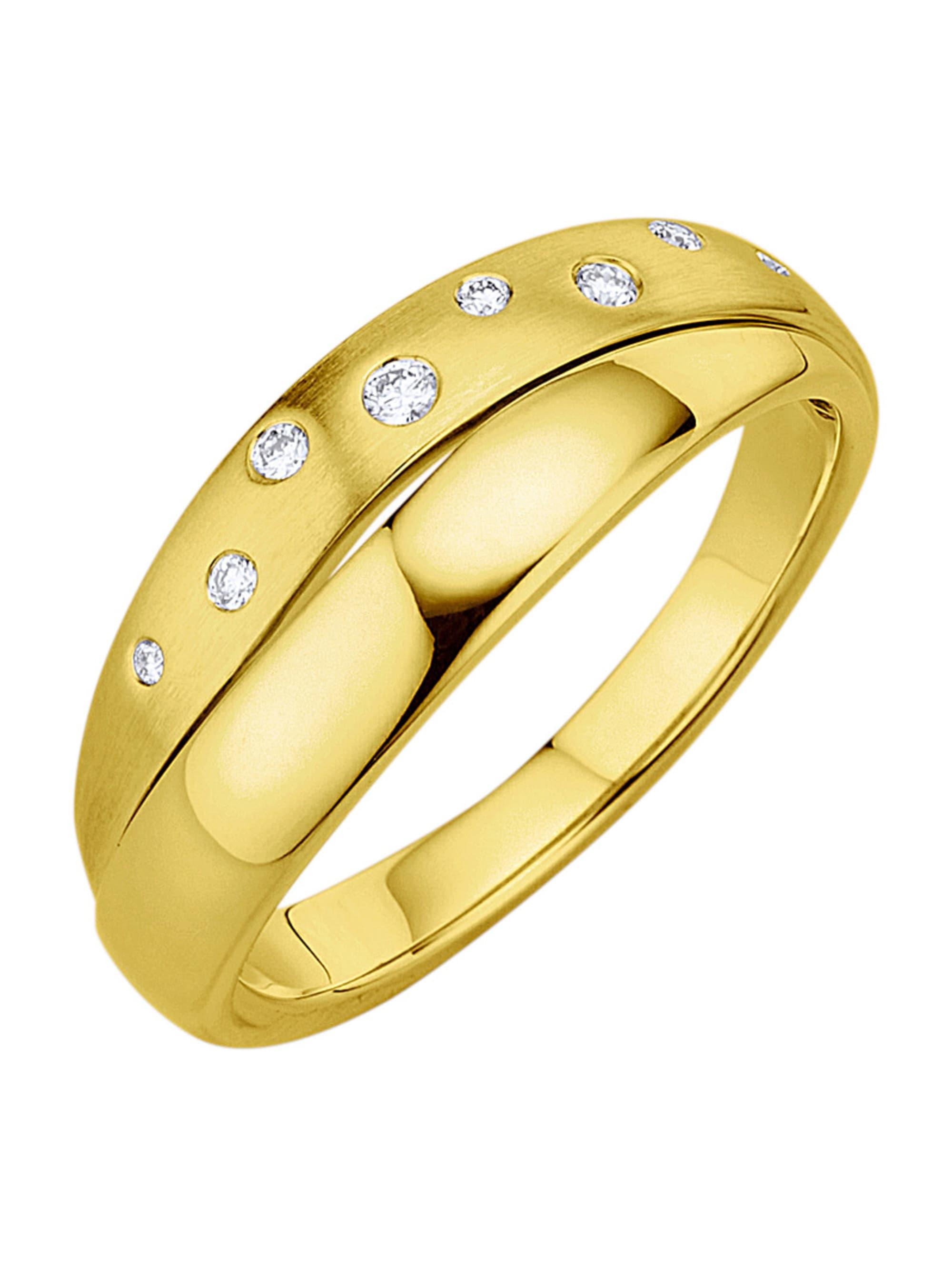Diemer Highlights Damenring mit Diamanten 171v1