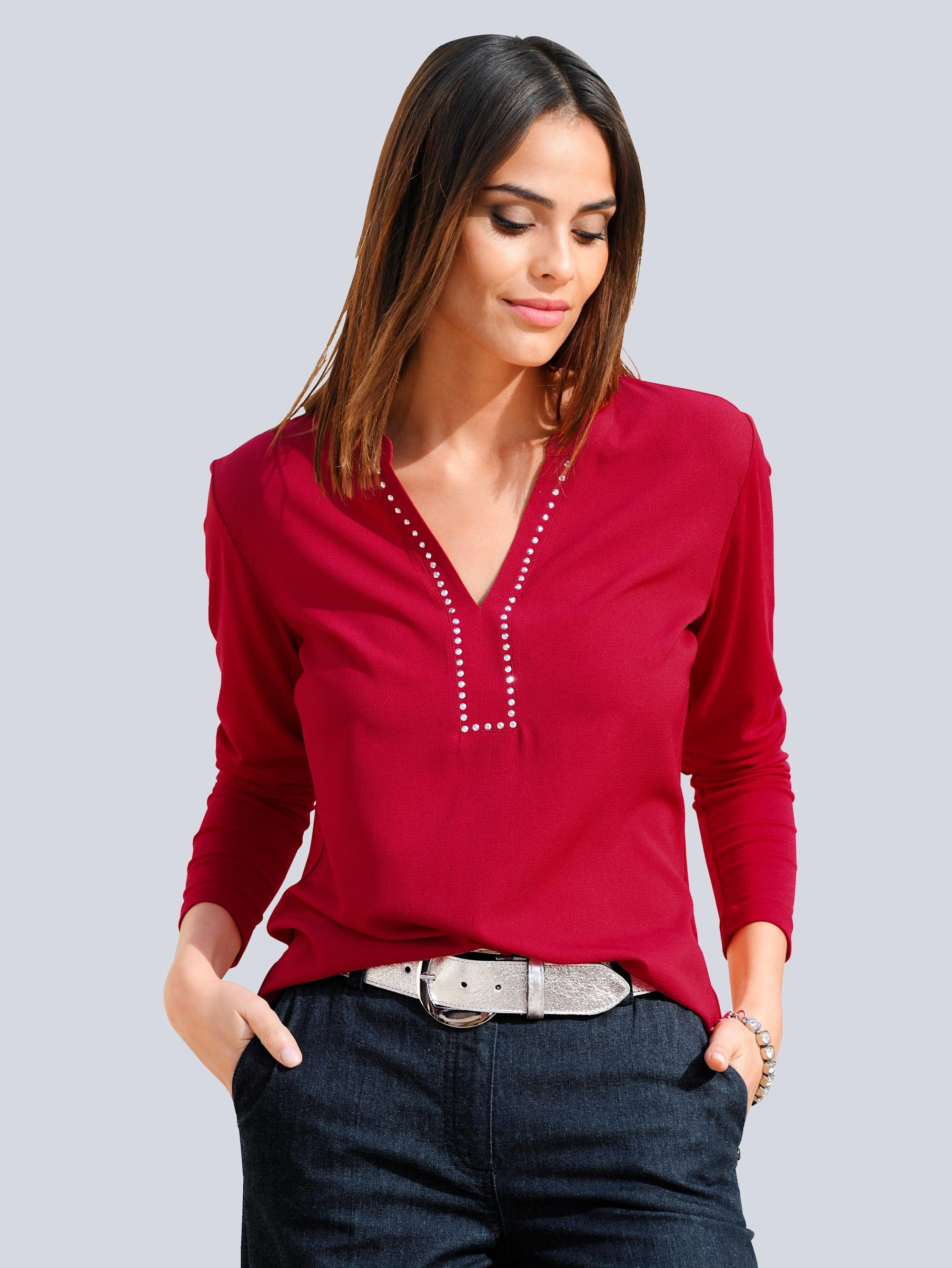 Alba Moda Shirt in kombinierfreundlicher Farbstellung 2O662 gbFLk