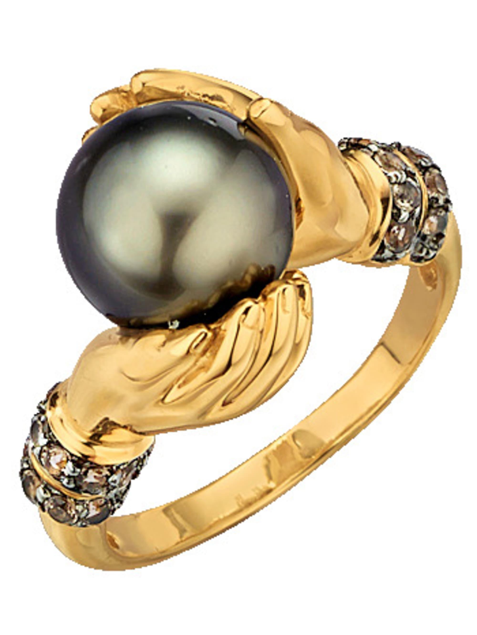 Diemer Perle Damenring mit Tahiti-Zuchtperle KBev7
