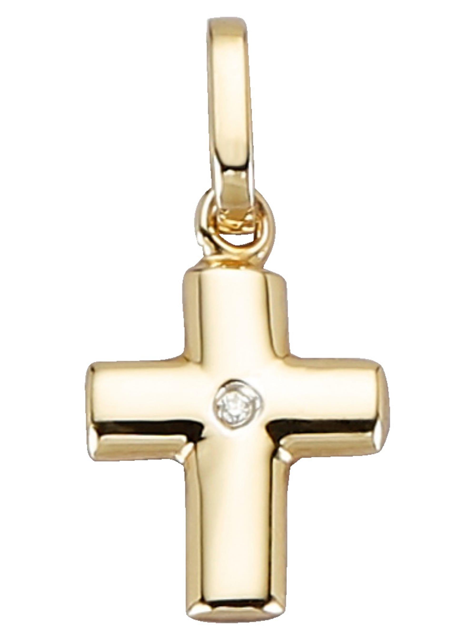 Kreuz-Anhänger mit Diamant i9uVM