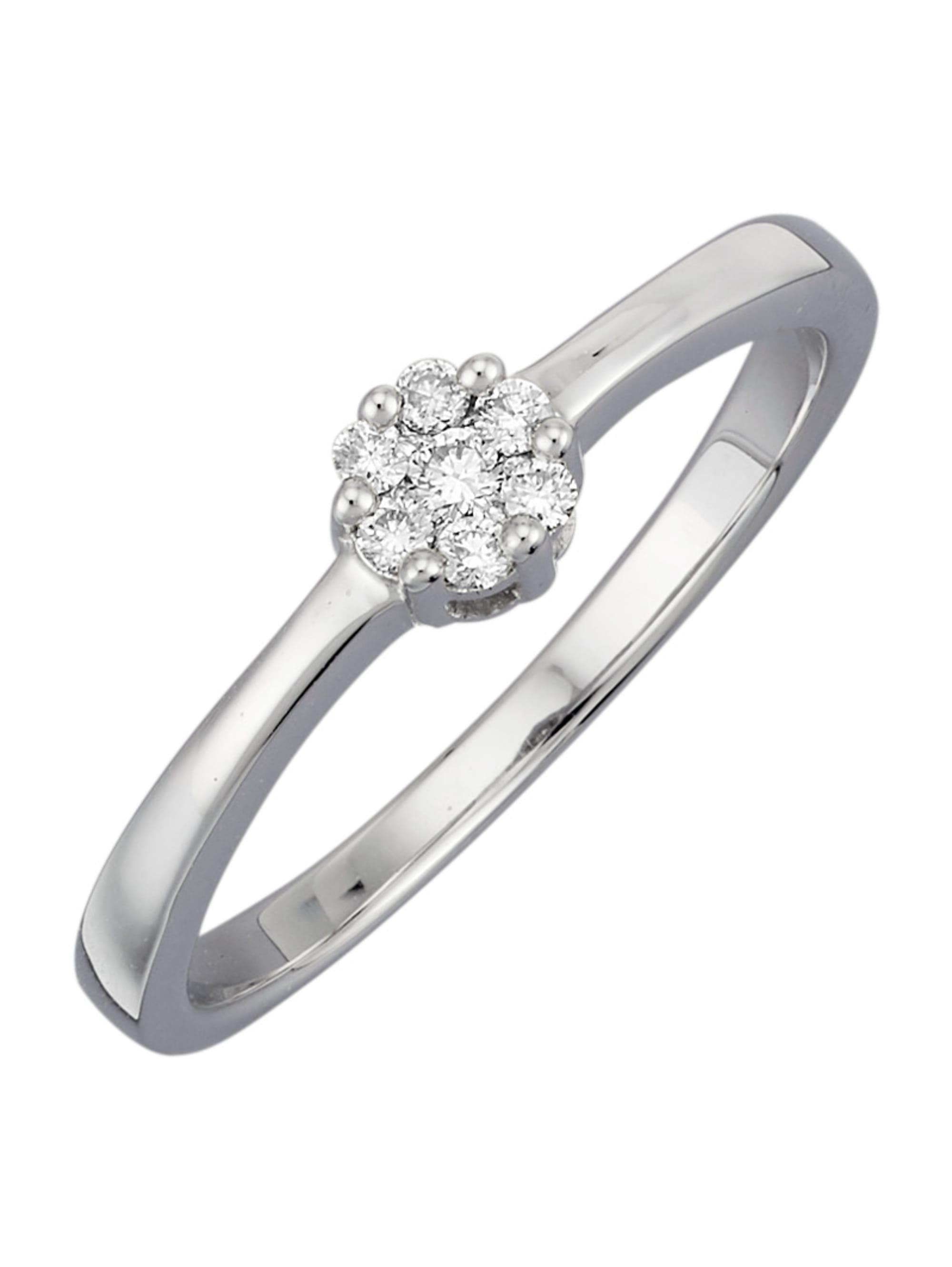 Diemer Diamant Damenring mit Brillanten r8Go8