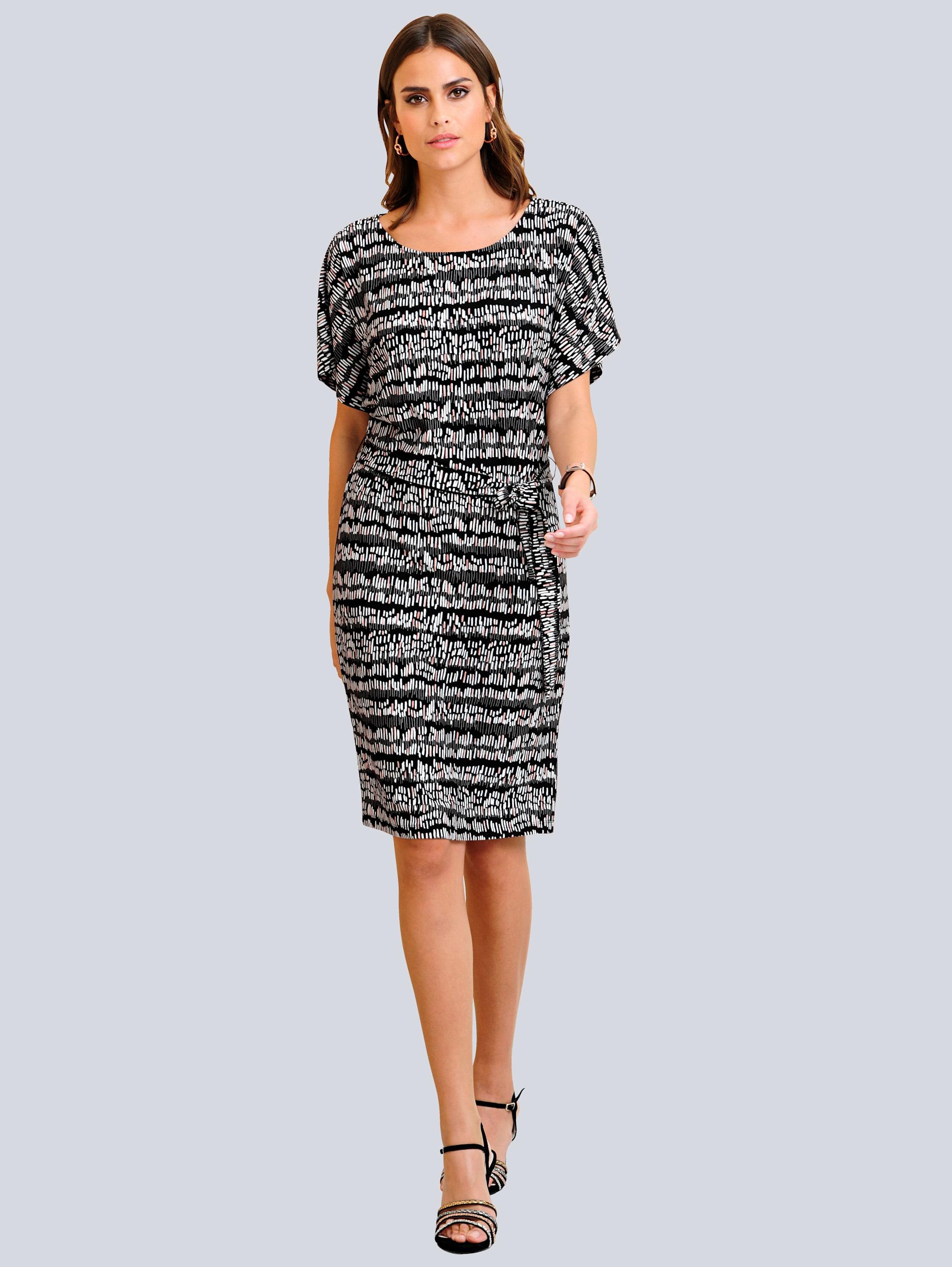 Alba Moda Kleid mit Alba Moda exklusivem Druck allover Sr6j2 oT7uR