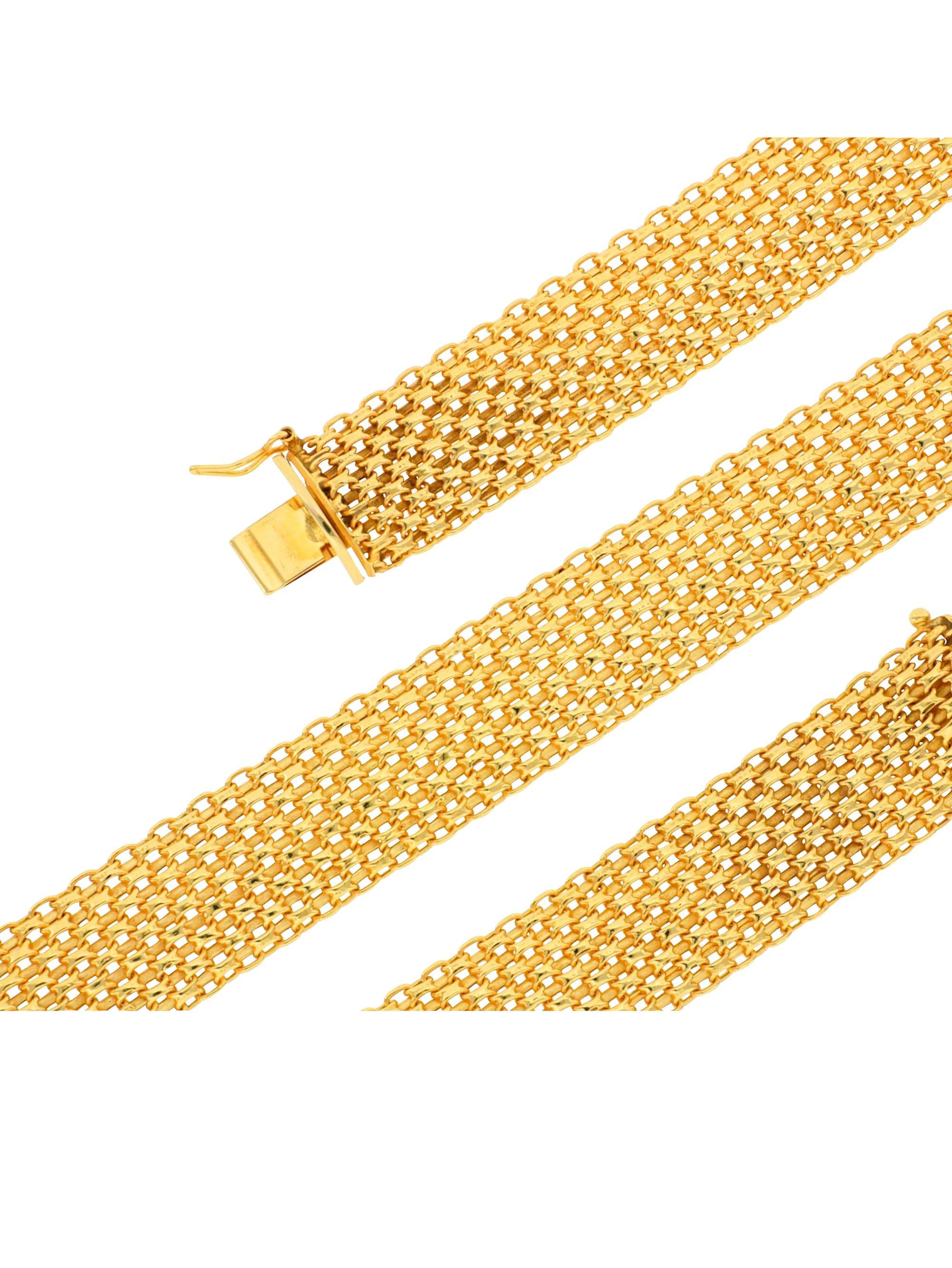 Grazielli Bismarckarmband in Gelbgold XKzfg