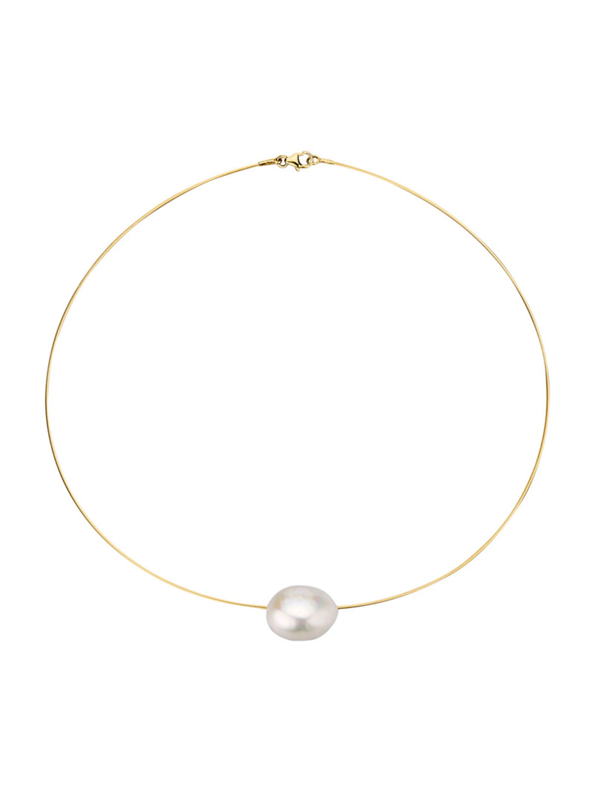 Diemer Perle Collier mit Süßwasser-Zuchtperl-Nugget hzfQ2