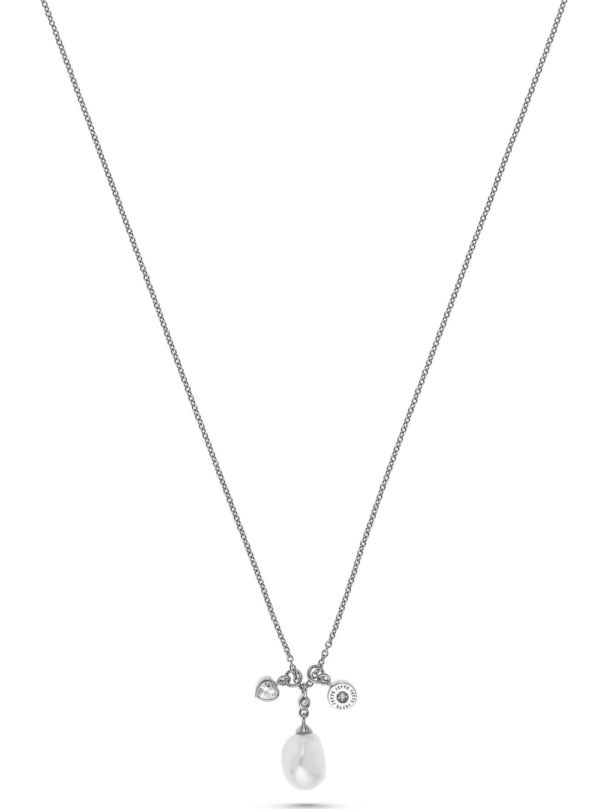 Jette JETTE Silver Damen-Kette Tail 925er Silber Perle JKKRg