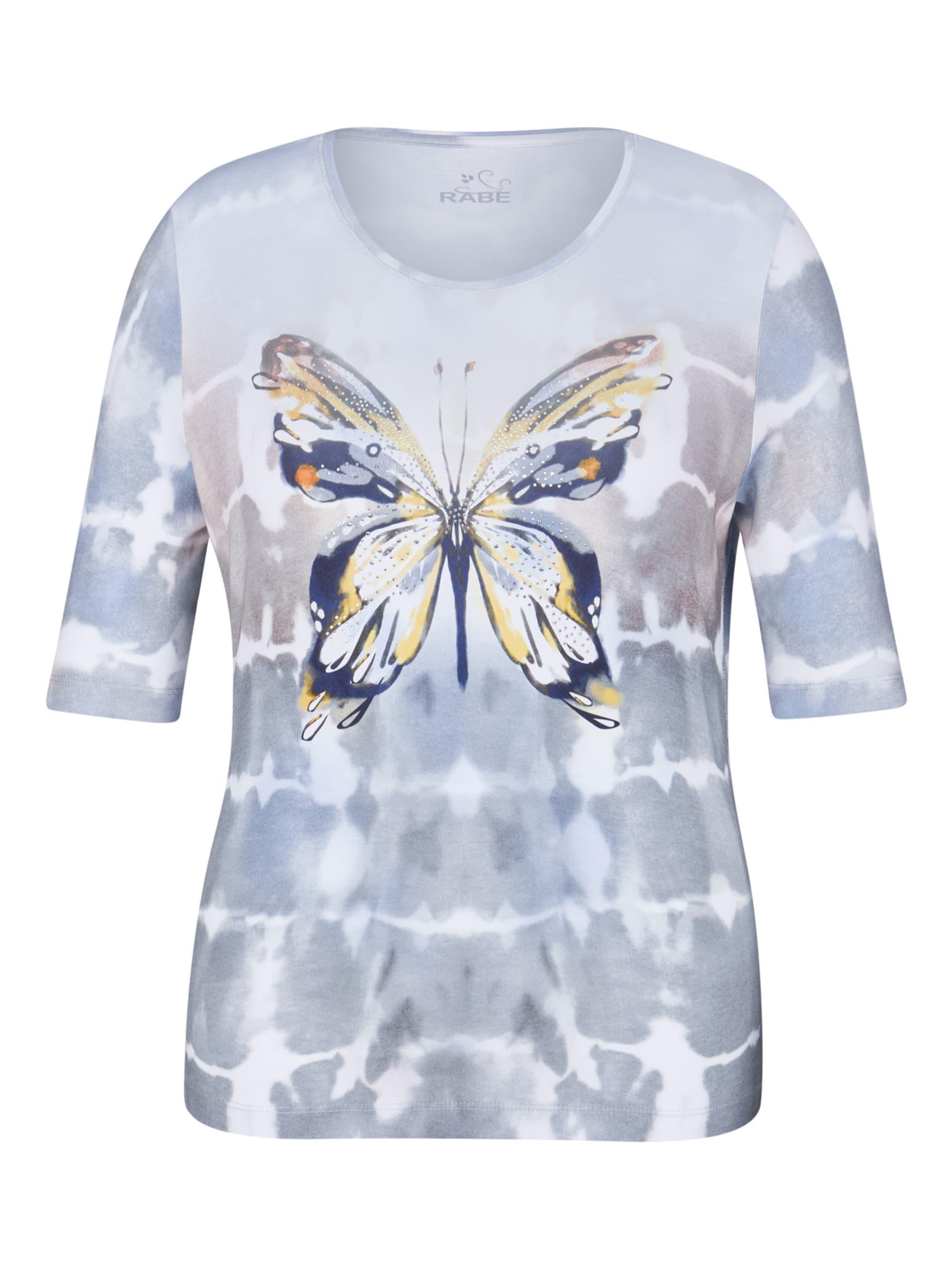 Rabe T-Shirt mit Schmetterlings-Print und Zierperlen lPEbp mqiI2