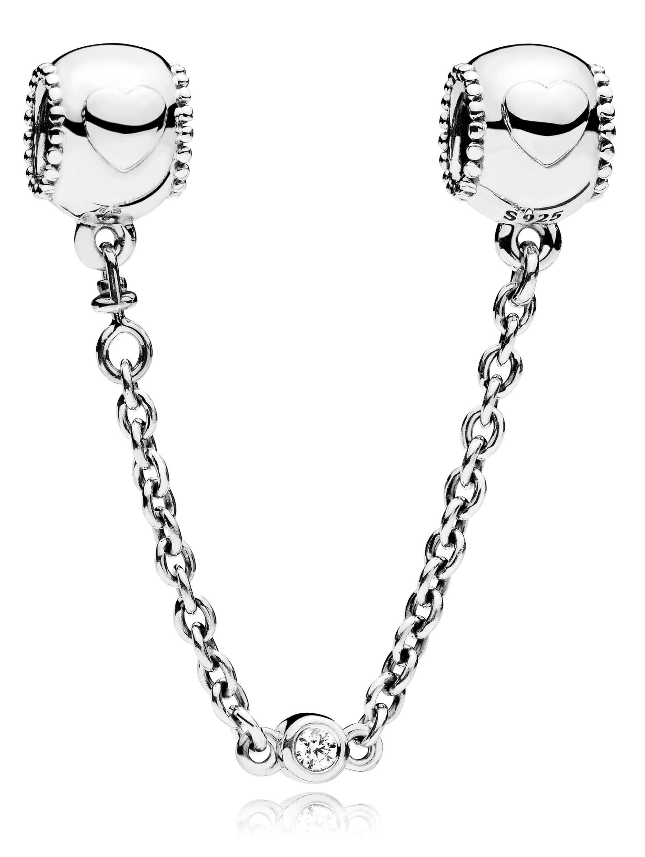 Pandora Sicherheitskette mit Herzen 796457CZ-5 KieBl