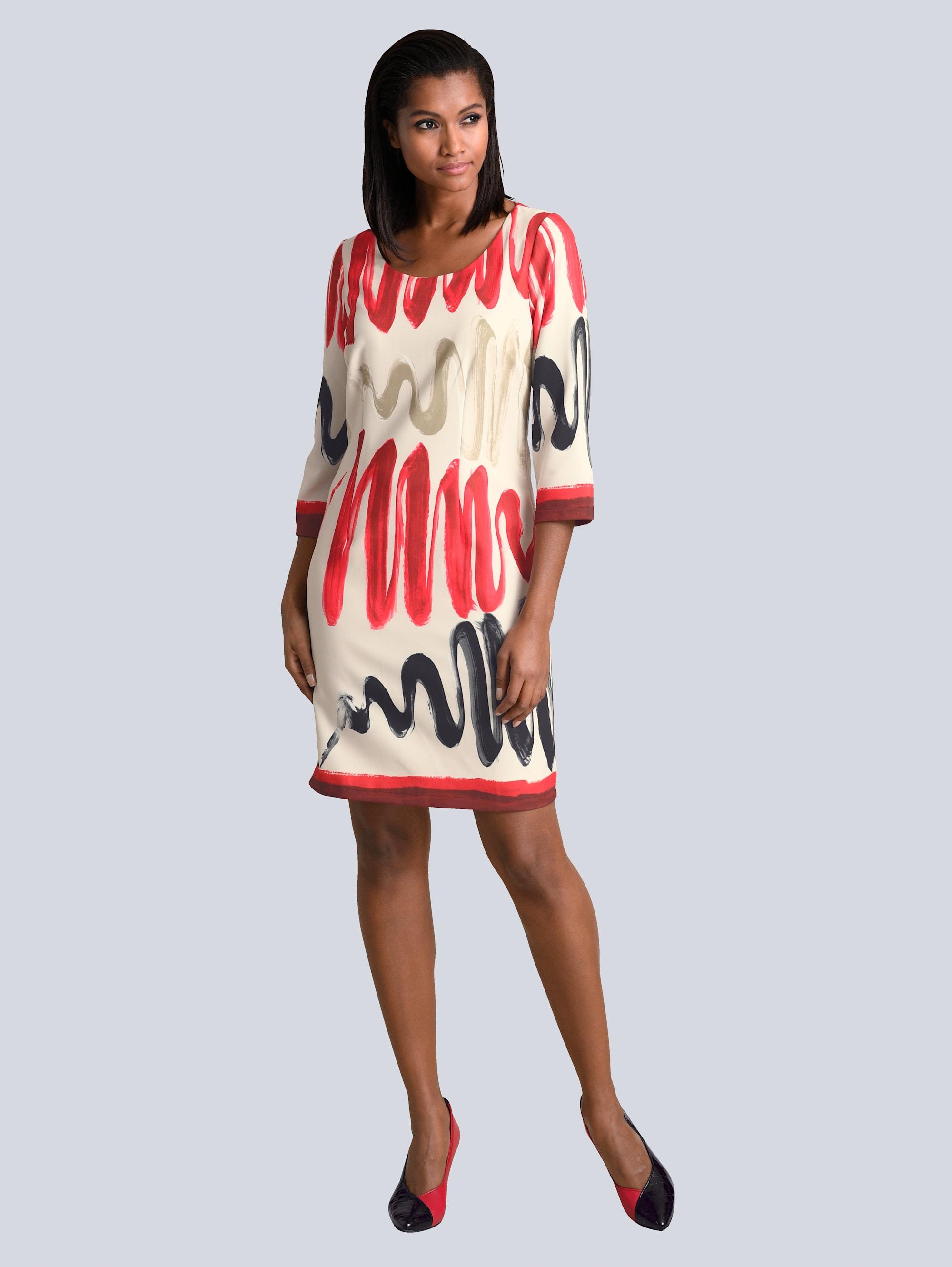 Alba Moda Kleid in grafischem Print aaDOp ObNrX
