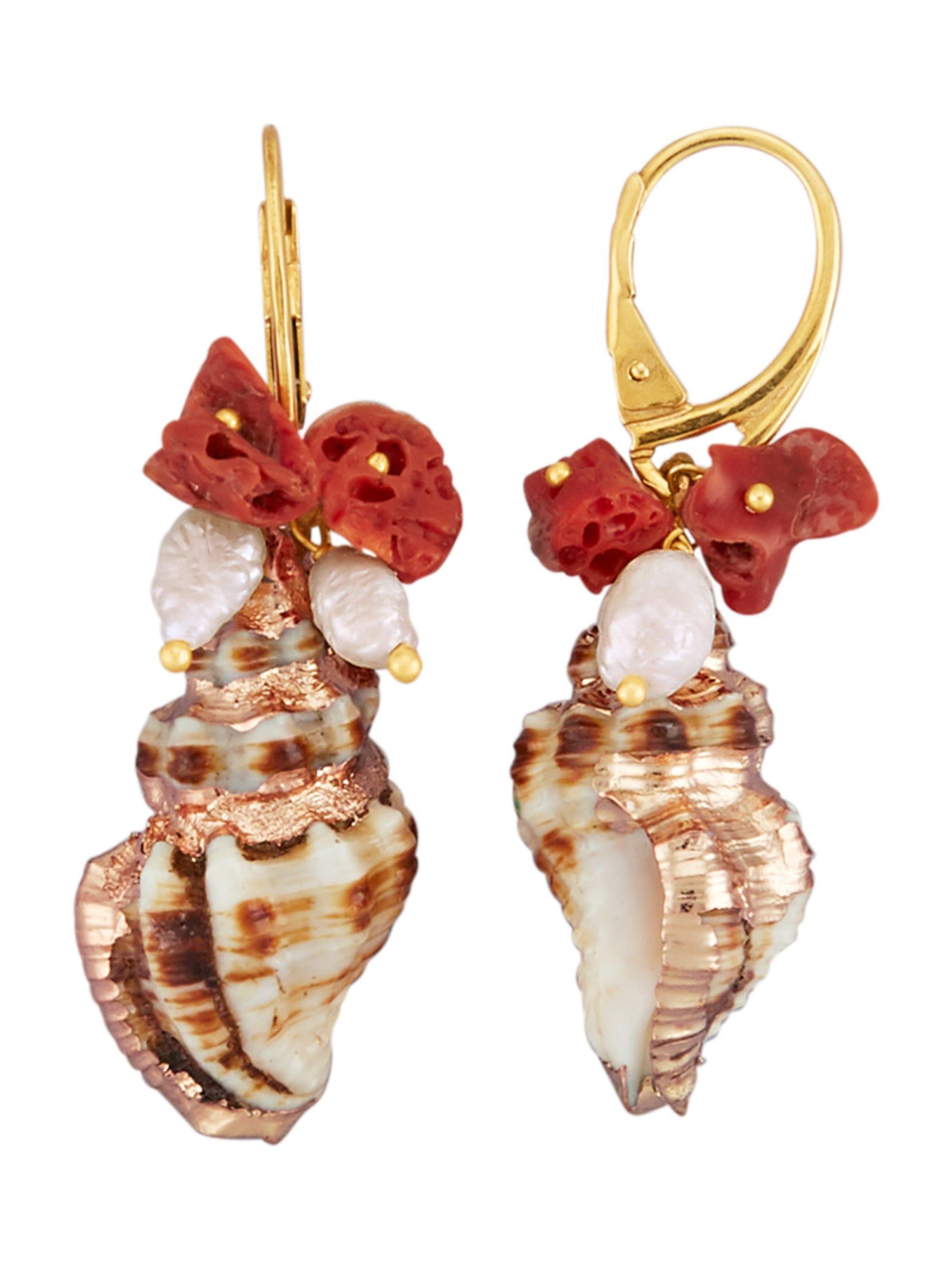 AMY VERMONT Ohrringe mit Süßwasser-Zuchtperlen fugmD