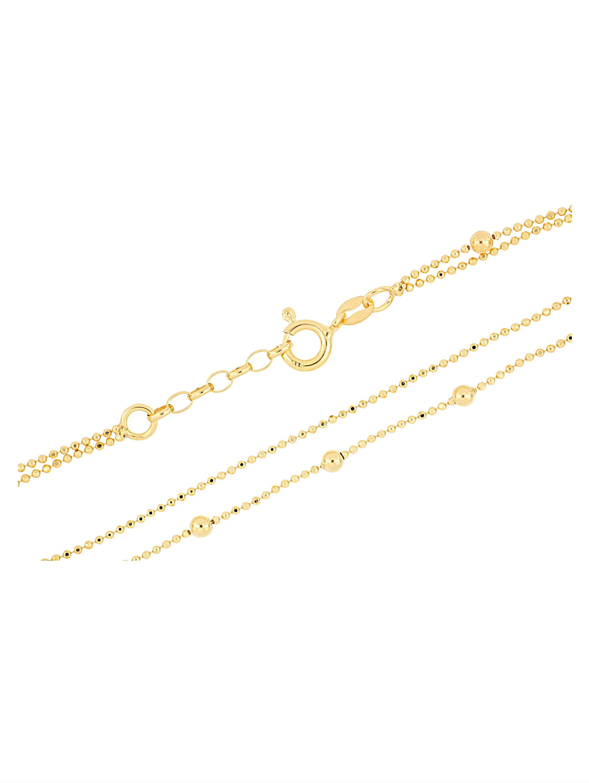 Grazielli 2rhg. Fußkette in Silber vergoldet PT73t
