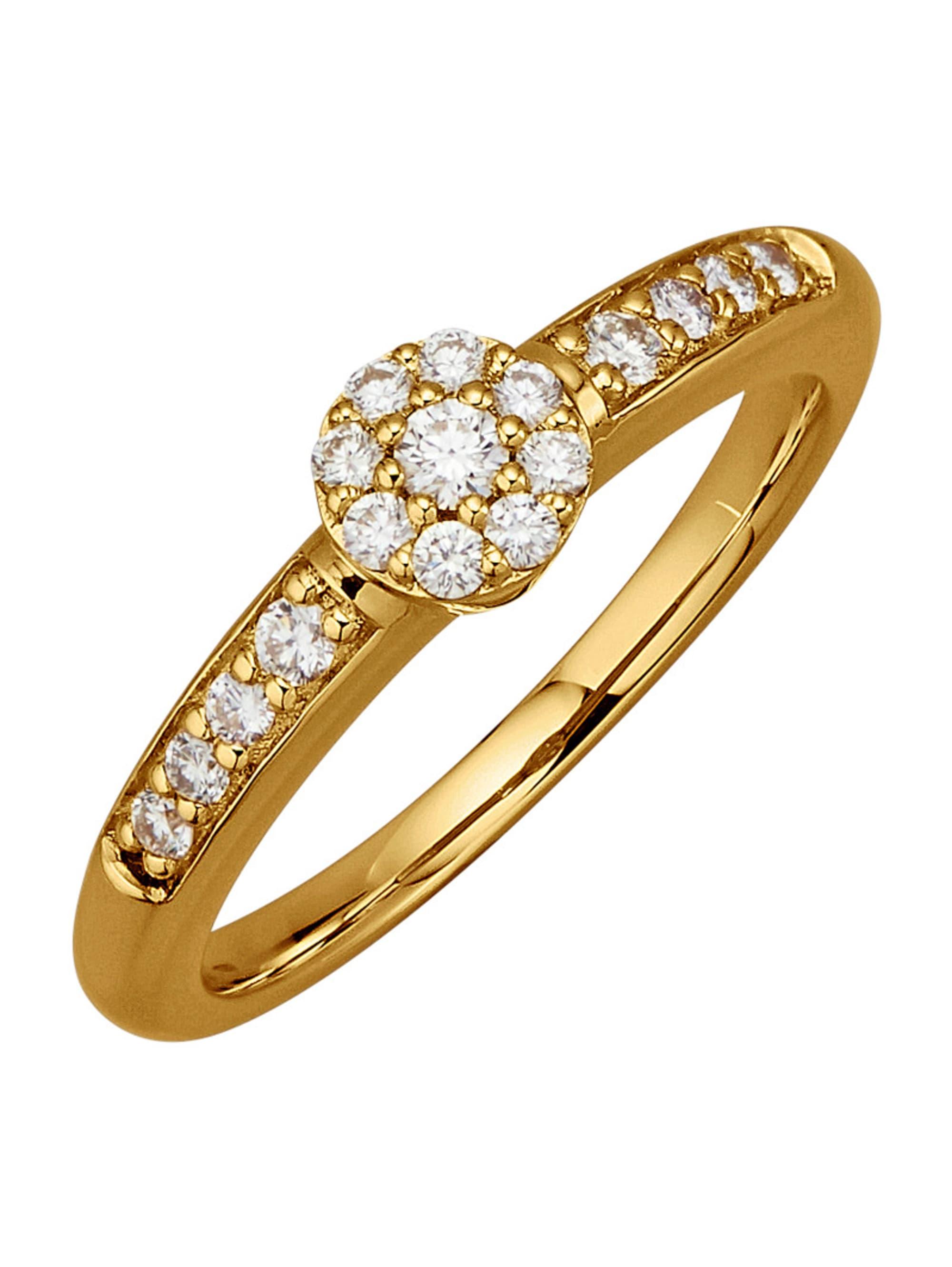 Diemer Diamant Damenring mit 17 Brillanten zyXwL