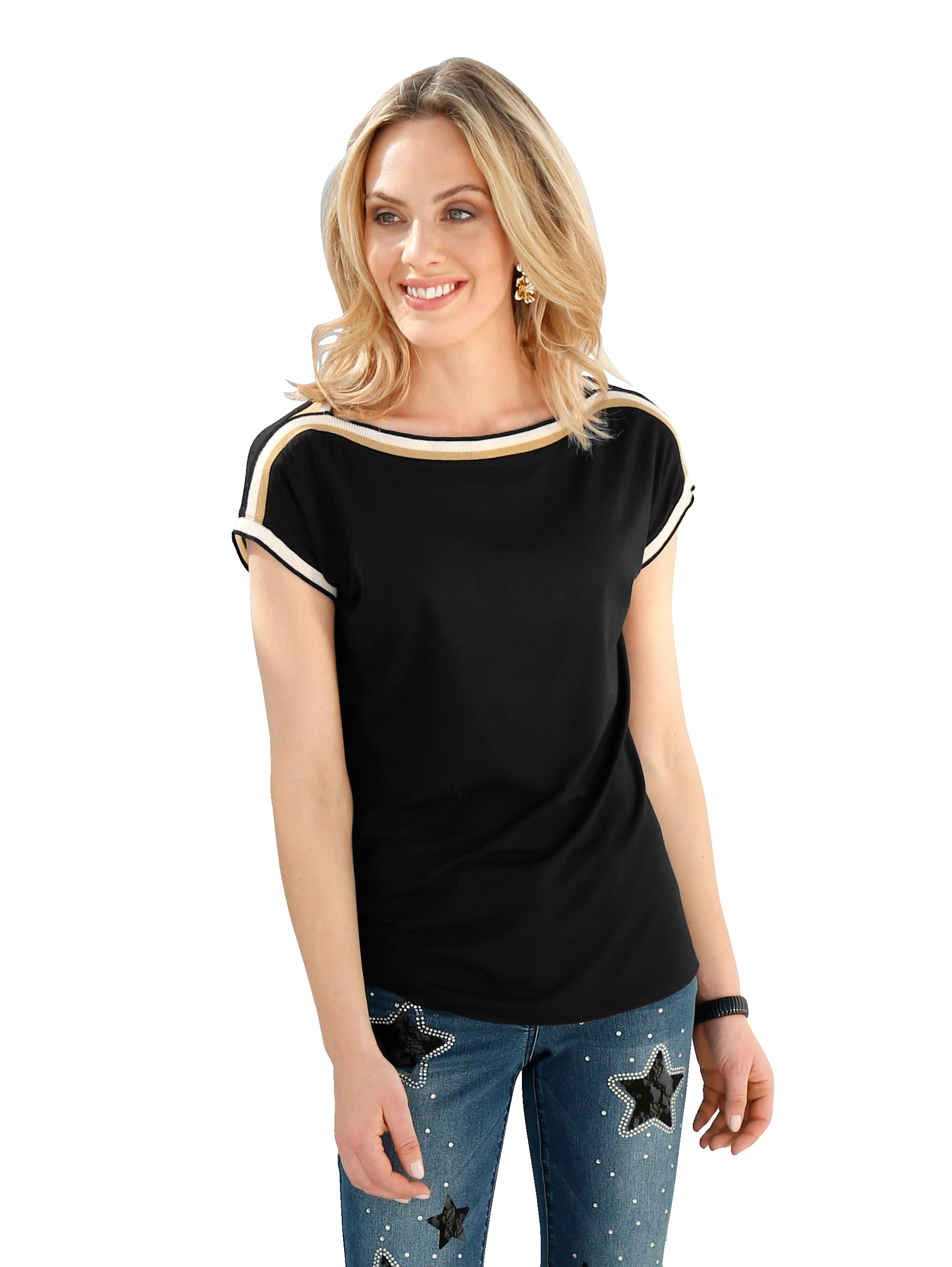 AMY VERMONT Shirt mit Zierband 5HVET j7zgB