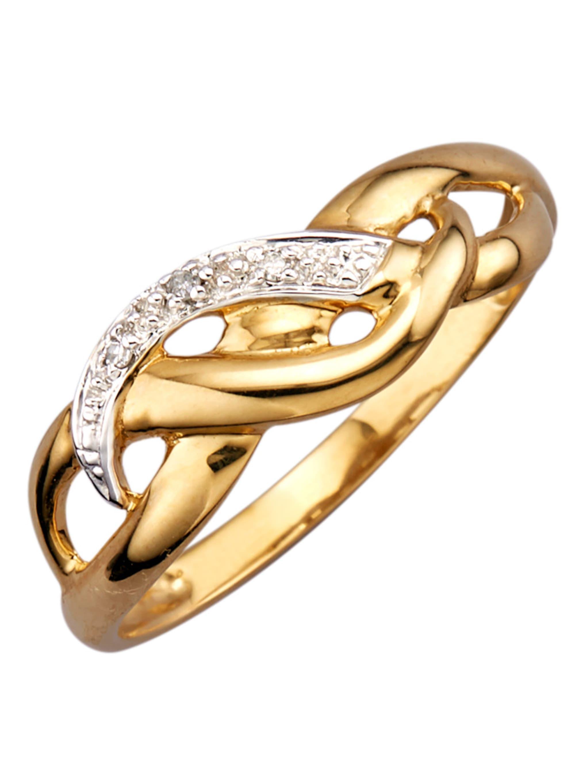 Damenring mit 3 Diamanten IWkCS