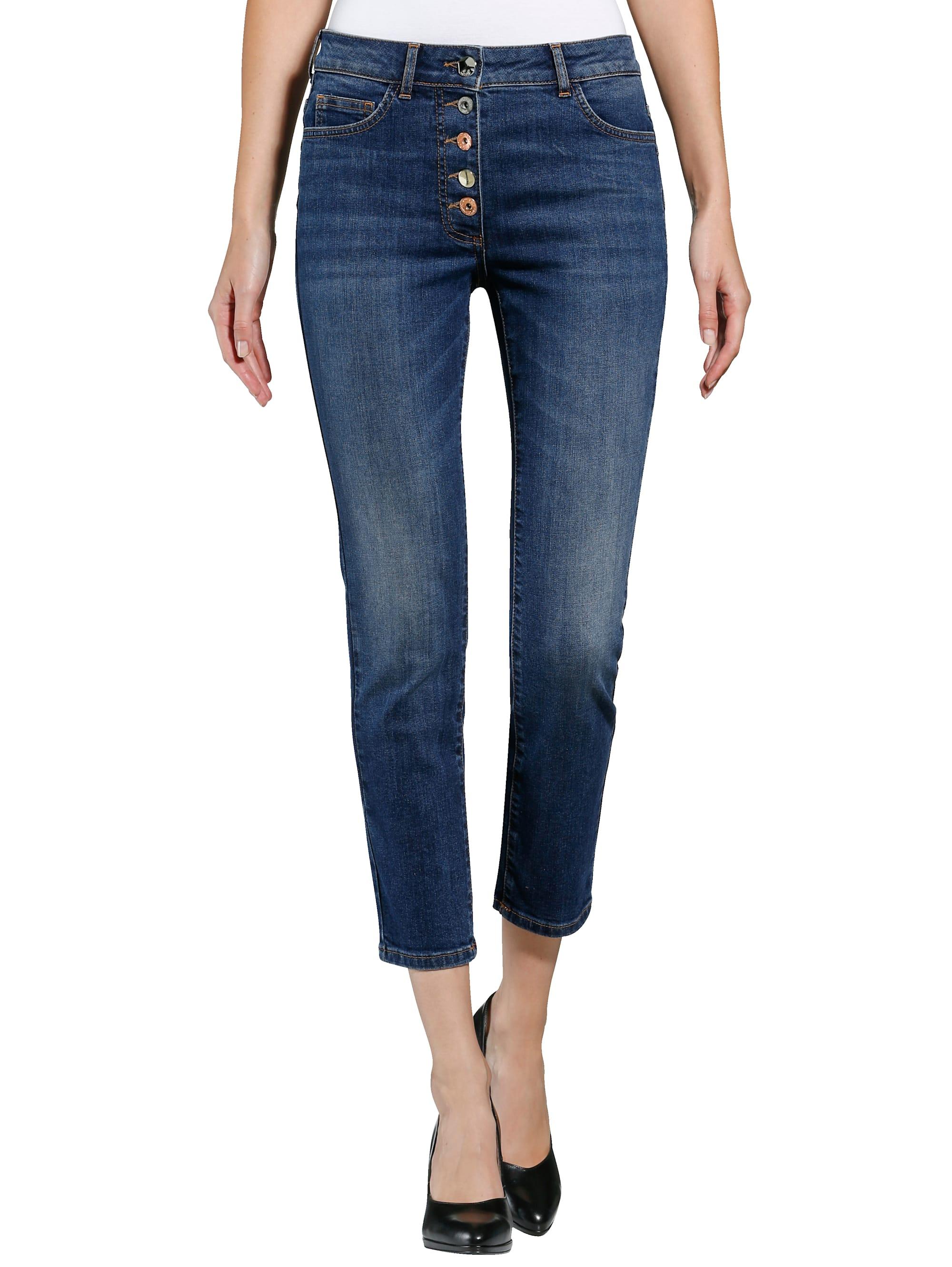 Alba Moda Jeans mit unterschiedlichen Knöpfen NitOt vO462