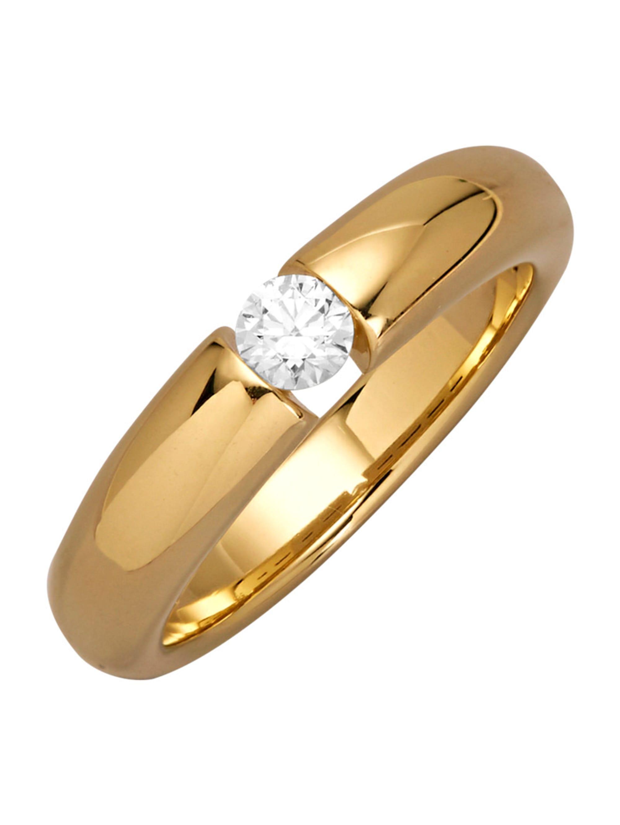 Solitär-Ring mit Brillant KGo9w