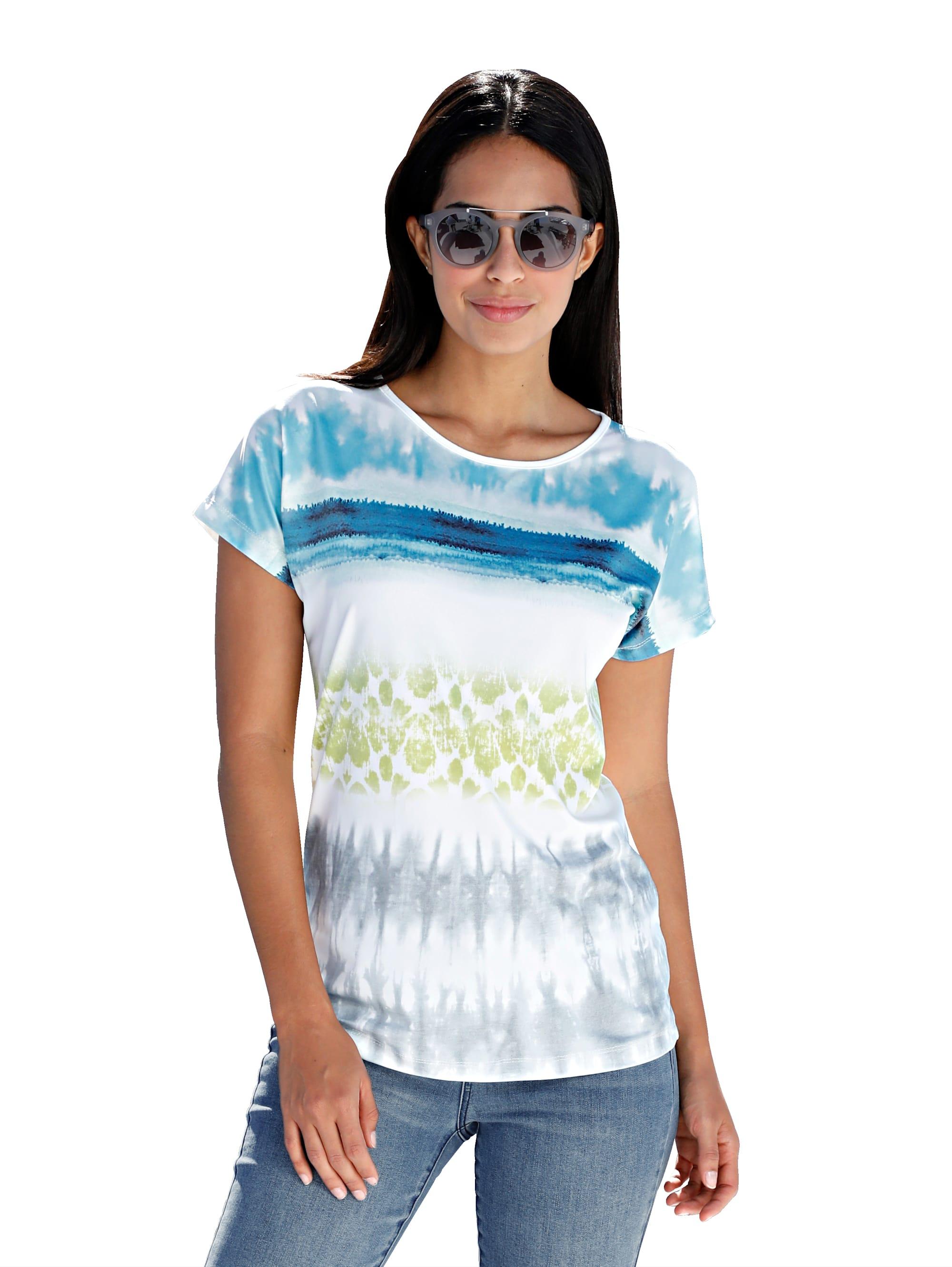 AMY VERMONT Shirt mit Batik-Druck Zc8D1 j5Uav