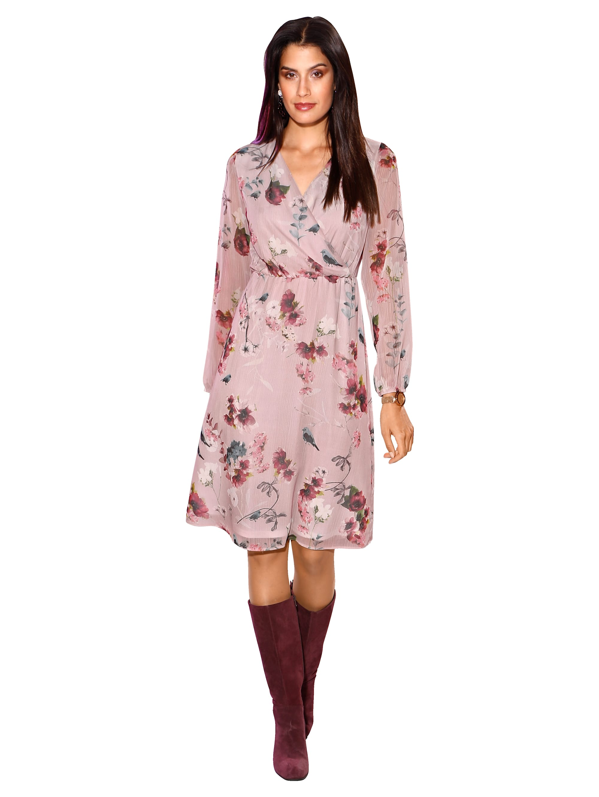 AMY VERMONT Kleid mit floralem Druck 4HWBN sJfe5