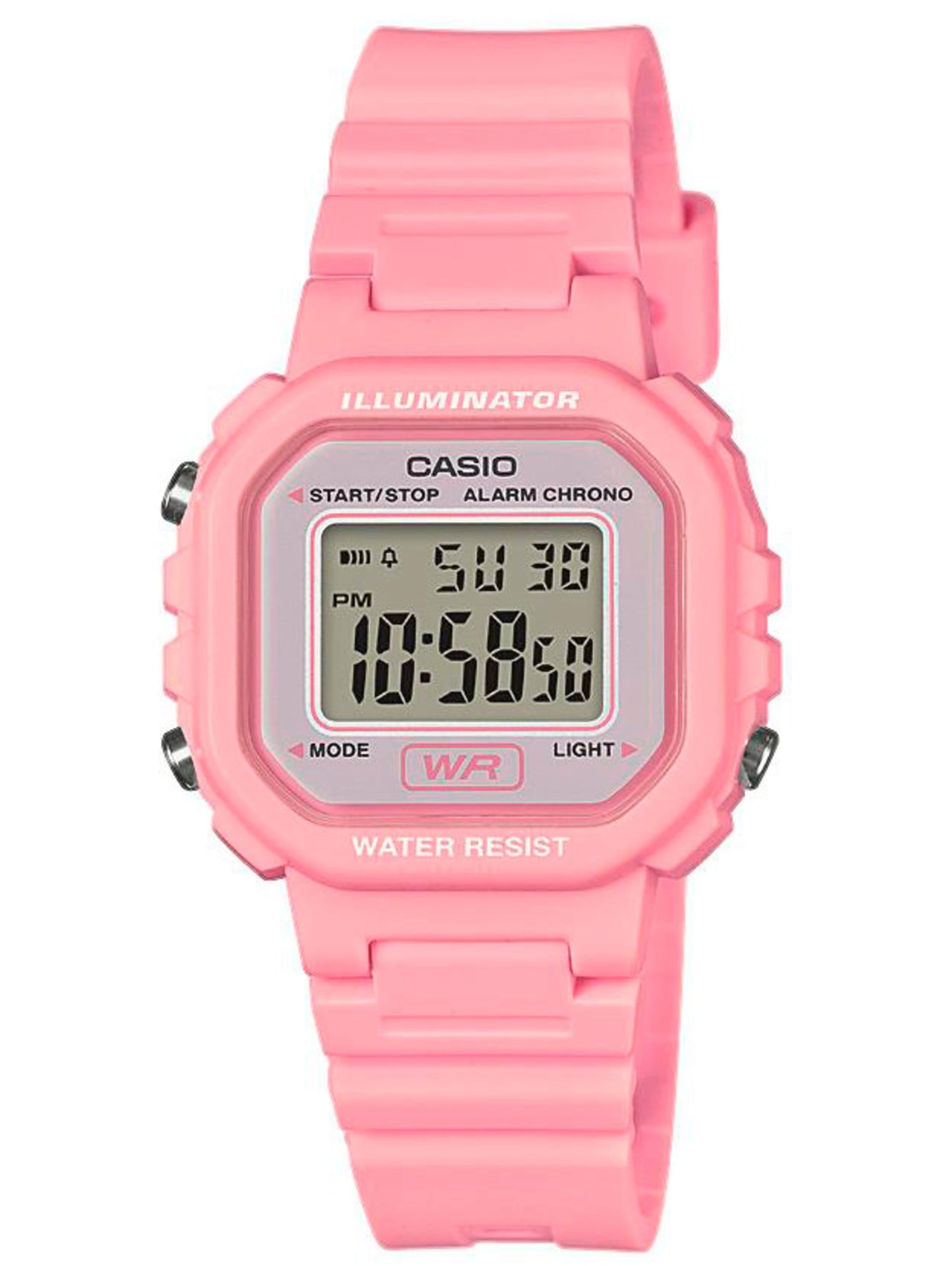 Casio Damen-Digital-Uhr Chronograph rosa LA-20WH-4A1EF tEfDz