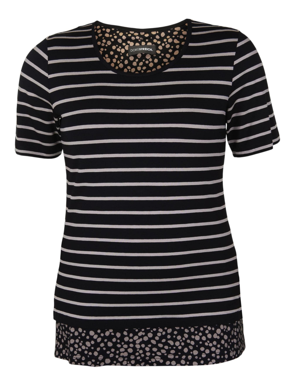 Doris Streich Shirt mit Streifenmuster Schlitze 54fig pDCpp