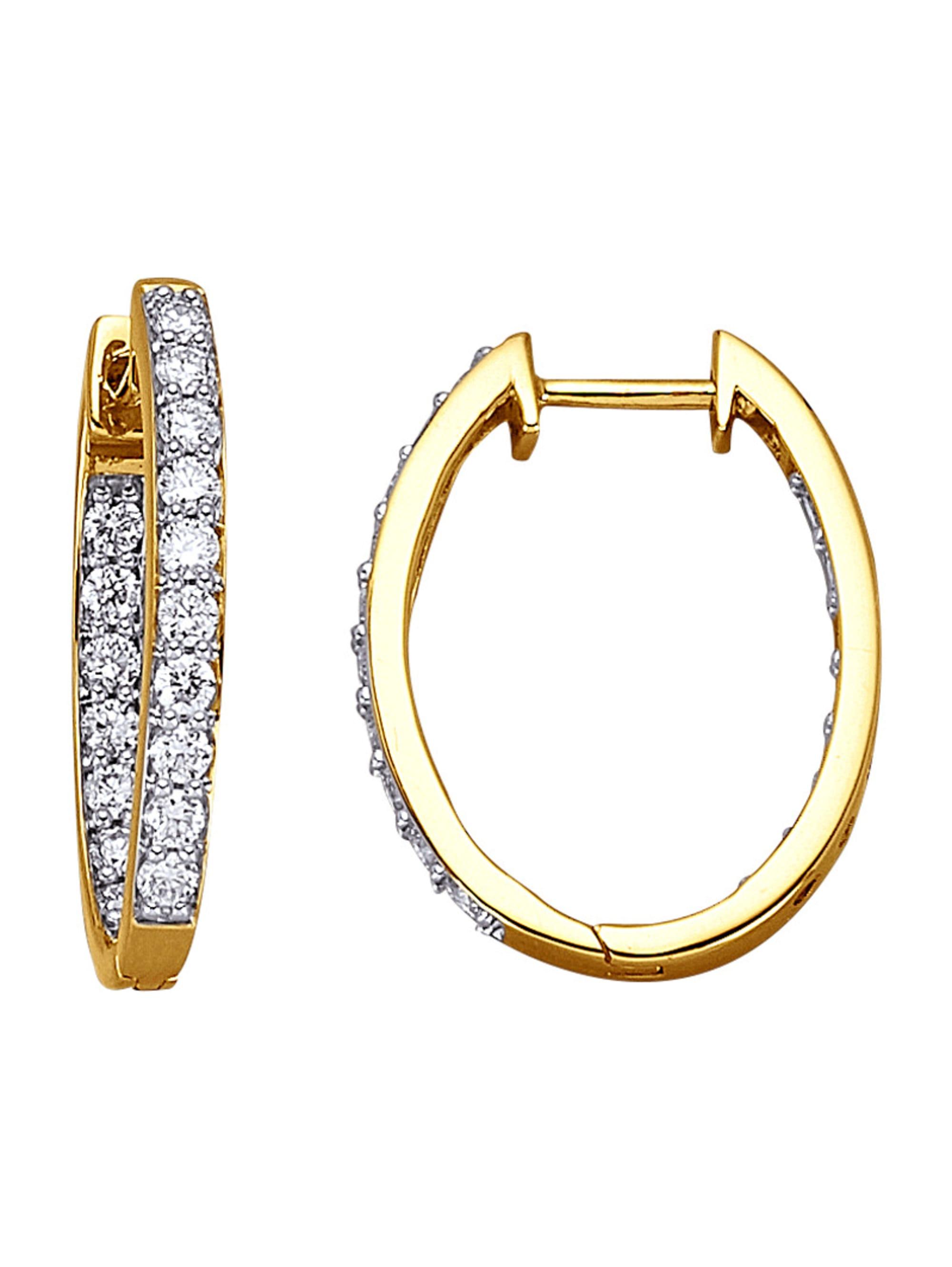 Diemer Diamant Klappcreolen mit Brillanten E0mgz