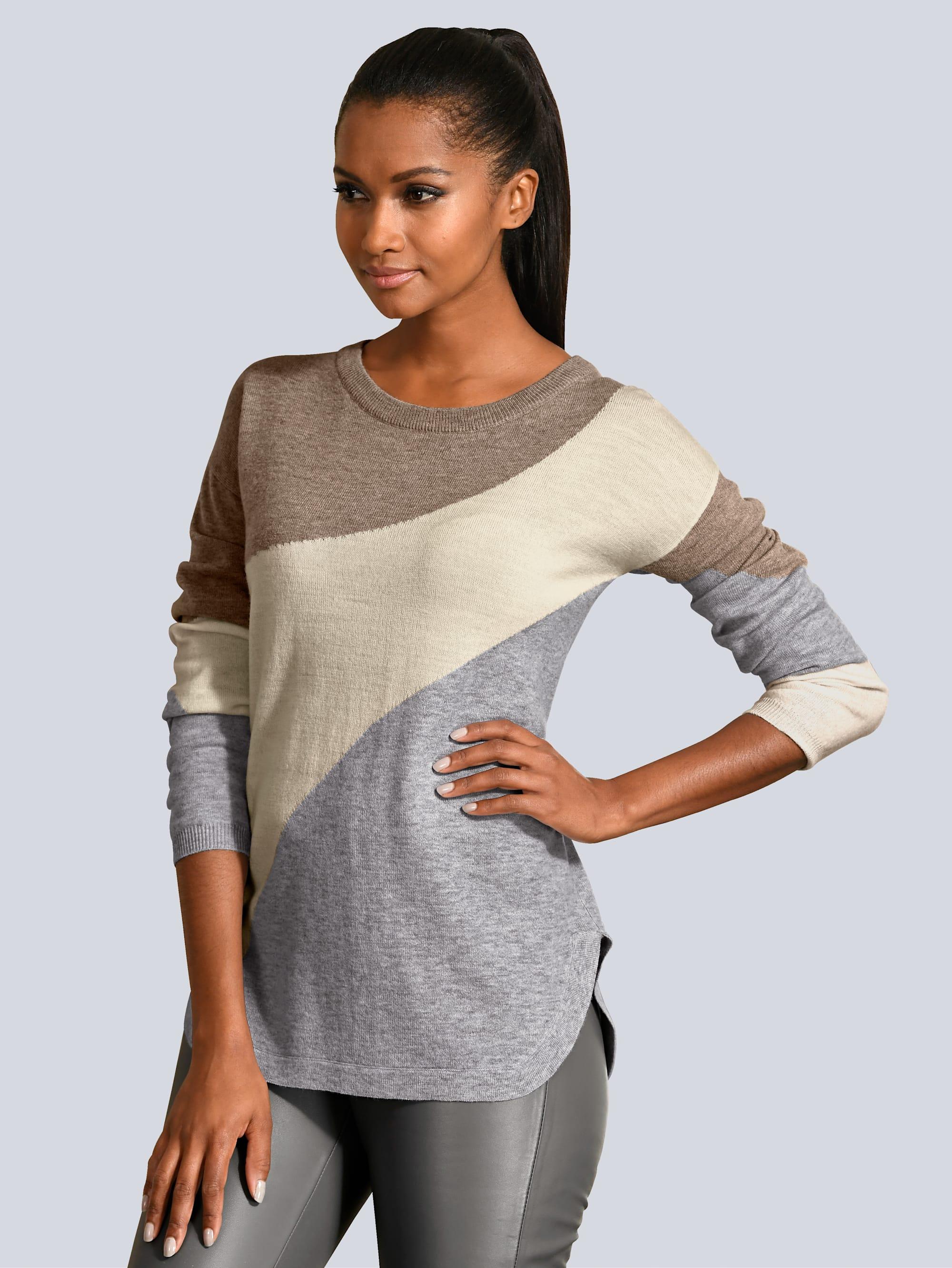 Alba Moda Pullover aus softem Material-Mix STqQN ILKPb
