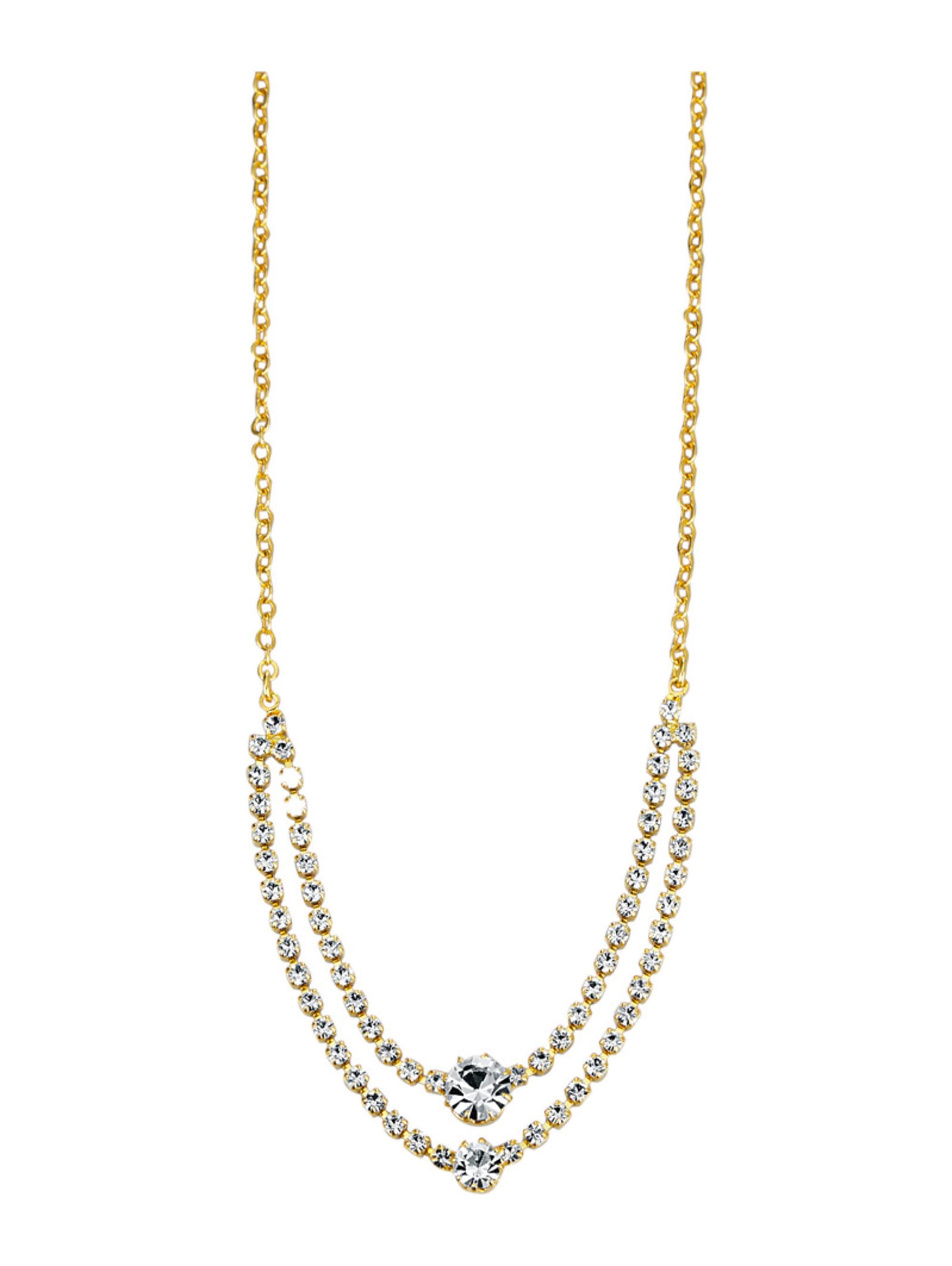 Golden Style Collier mit Kristallen A8I54