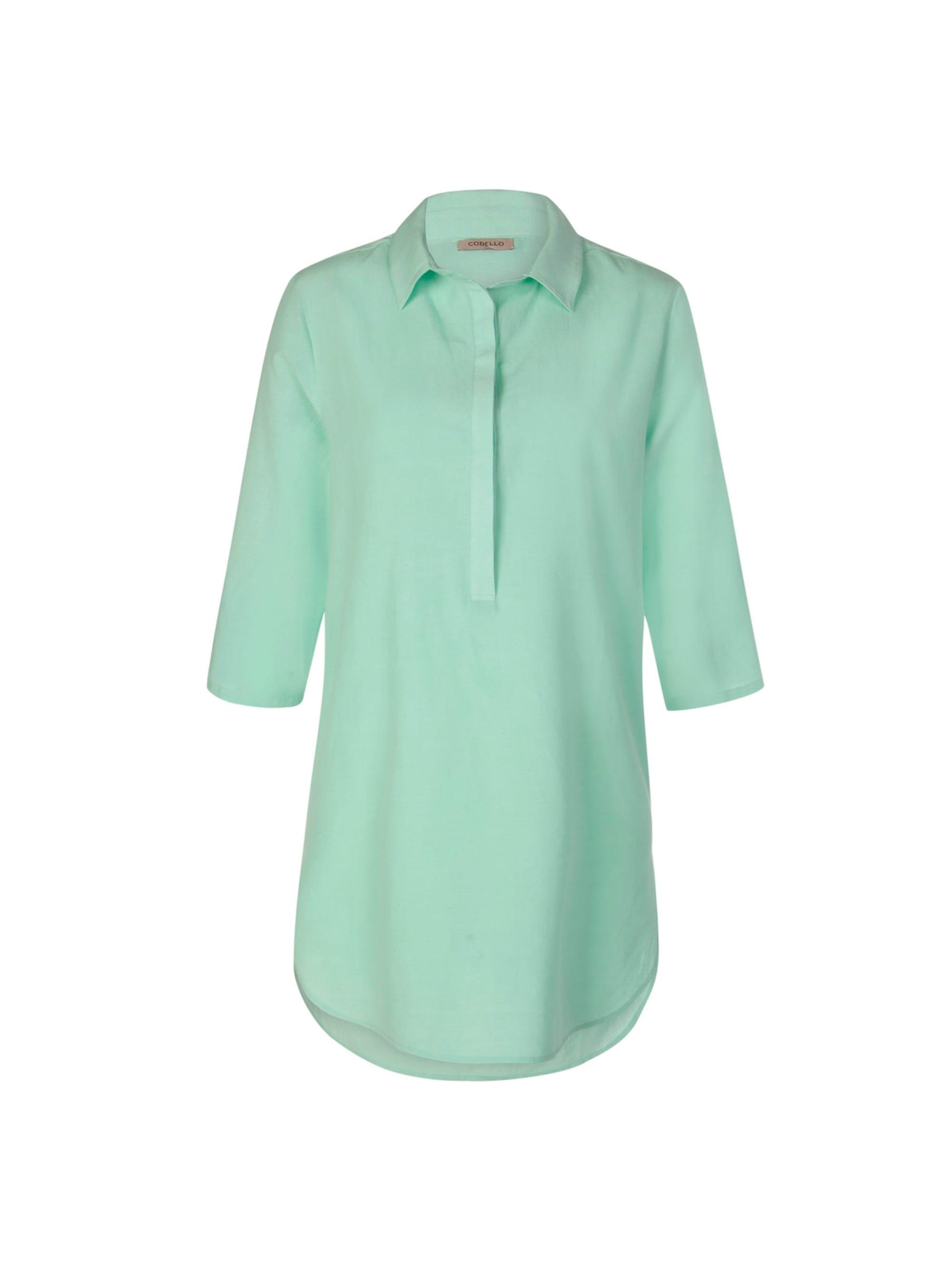 Codello Blusenhemd in lässiger Longform mit Seide & Leinen W3KGg mBszm
