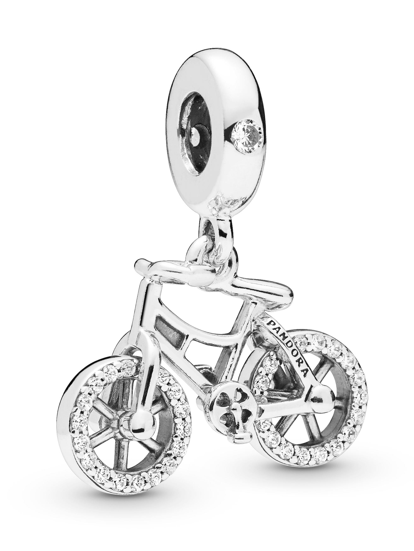 Pandora Charm-Anhänger -Brillantes Fahrrad- V8zJ4