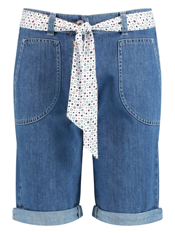 Gerry Weber Jeans-Shorts mit Stoffgürtel 8Zuwq jBeme