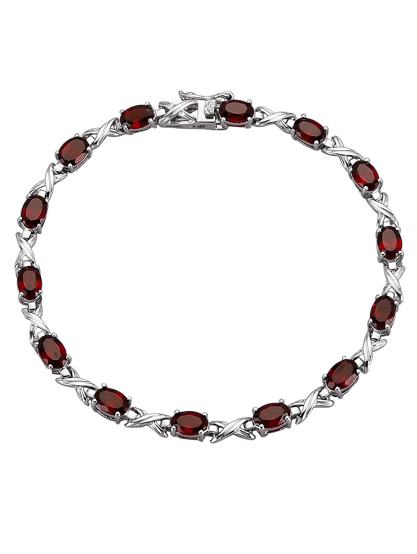 Armband mit Granat-Steinen 6rpEy