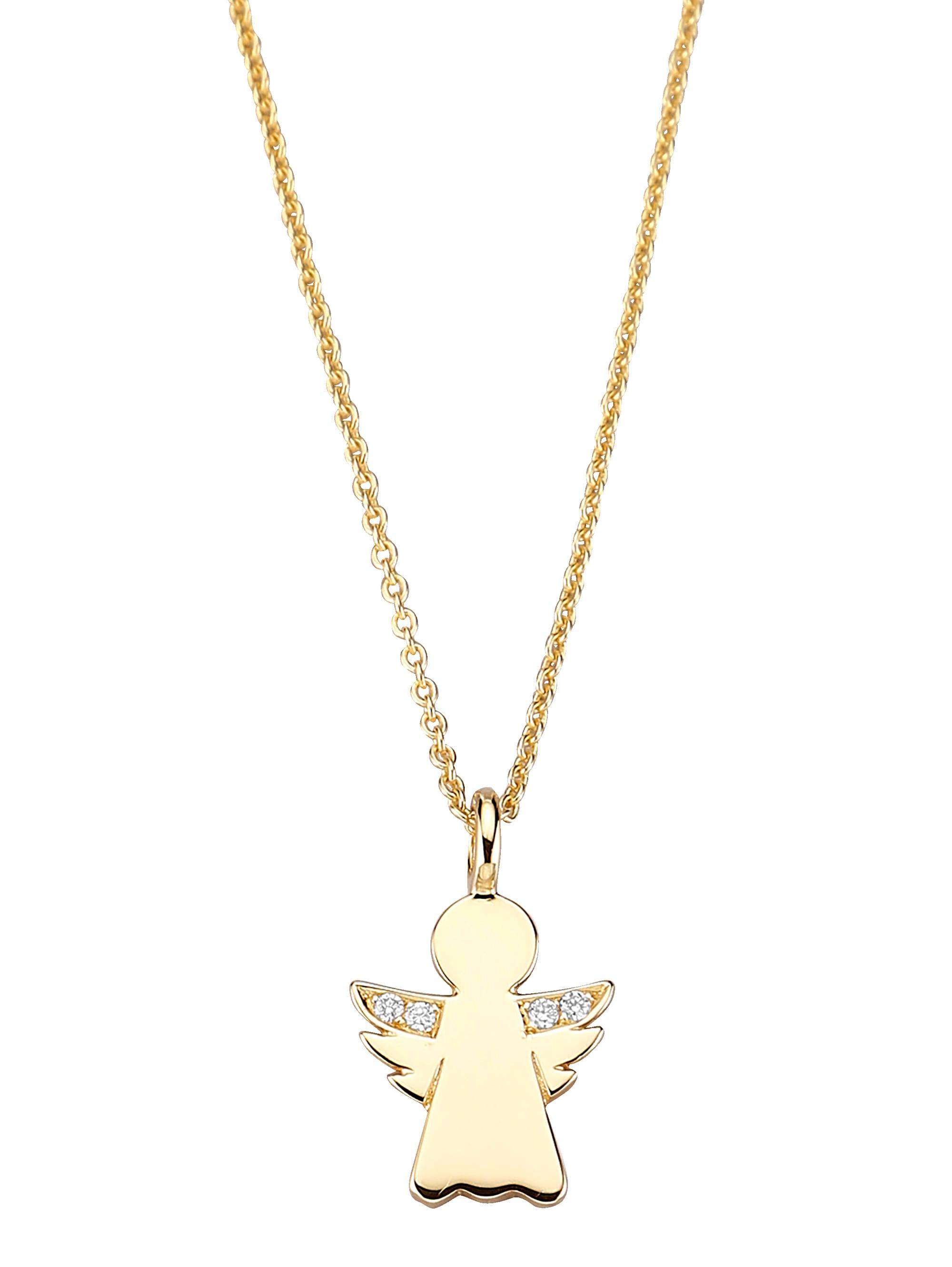 Diemer Diamant Engel-Anhänger mit Kette 1HCaw