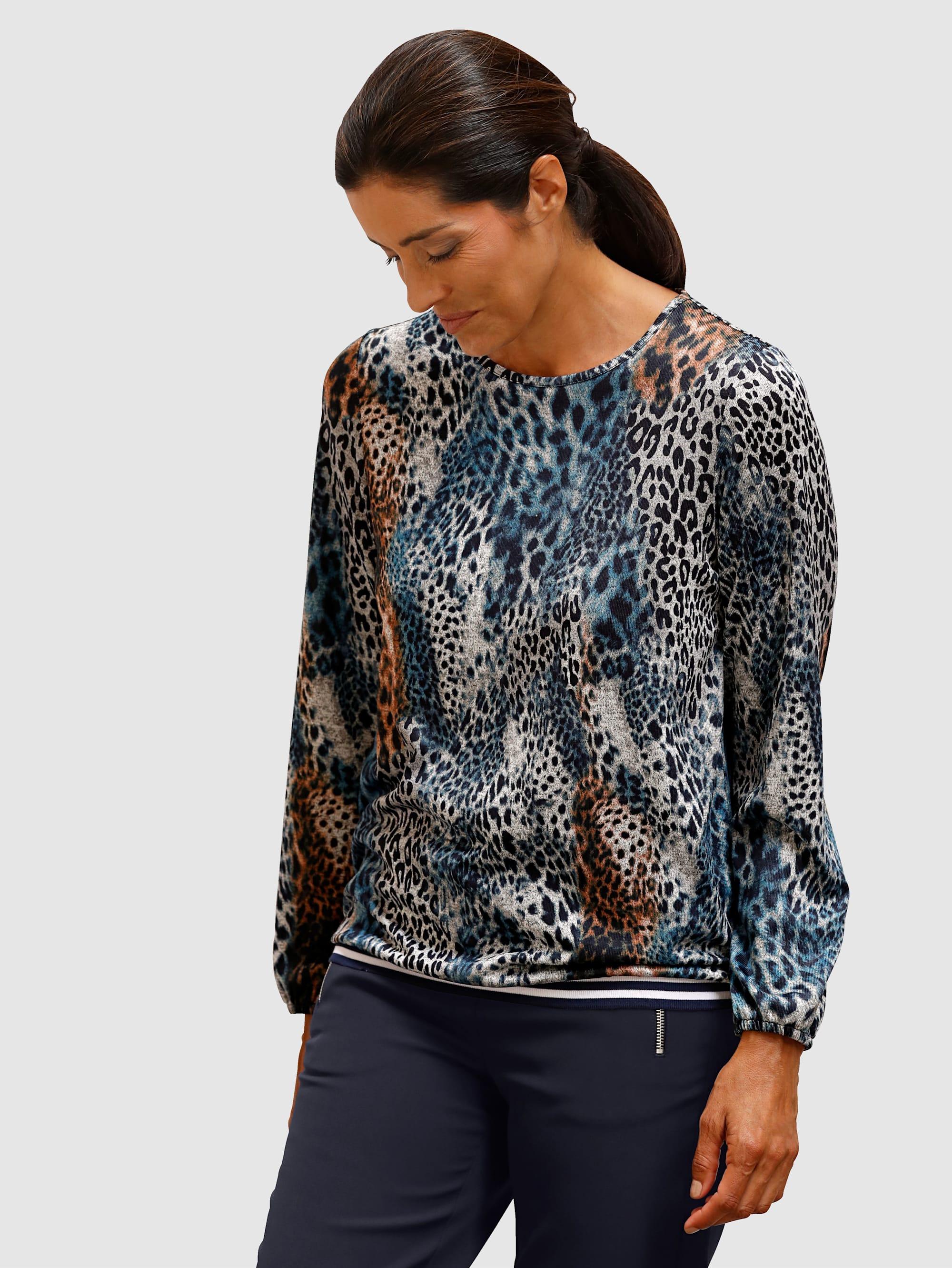 Laura Kent Shirt in modischem Leodessin ZHyWG wwE7J