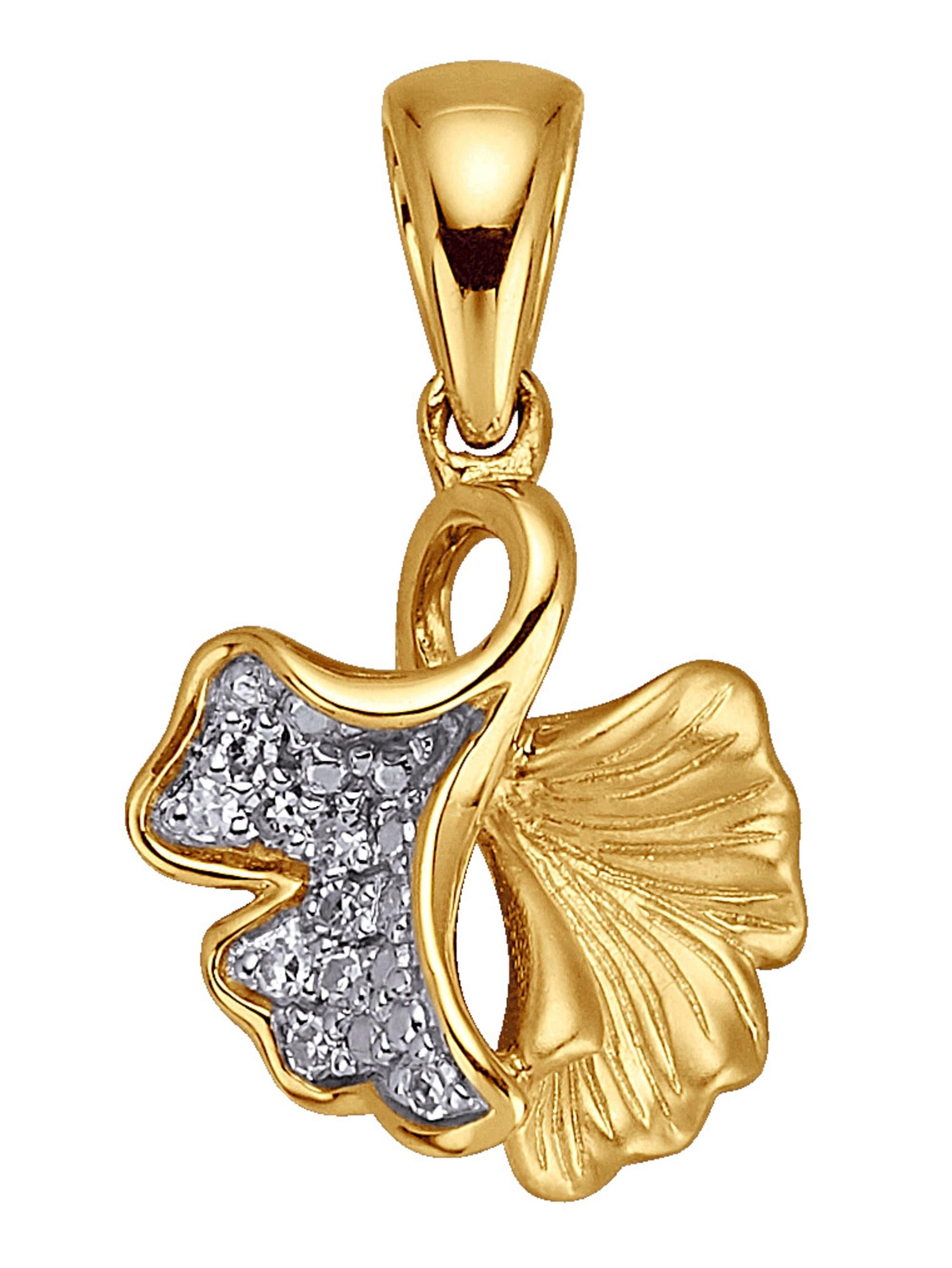 Diemer Highlights Ginkgo-Anhänger mit Diamanten 7xe54