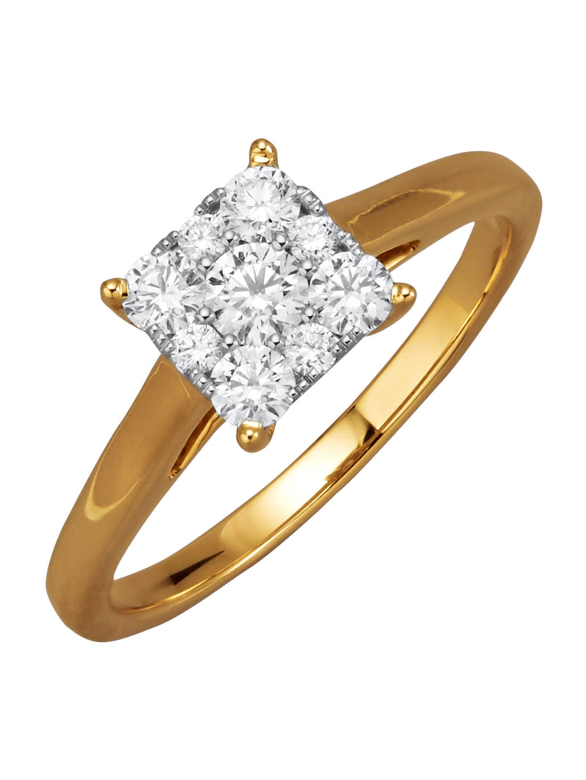 Diemer Diamant Damenring mit Brillanten 4xVEG