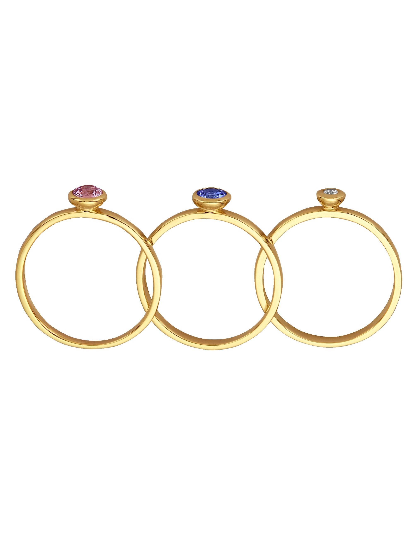 Diemer Farbstein 3tlg. Ring-Set fbBvL