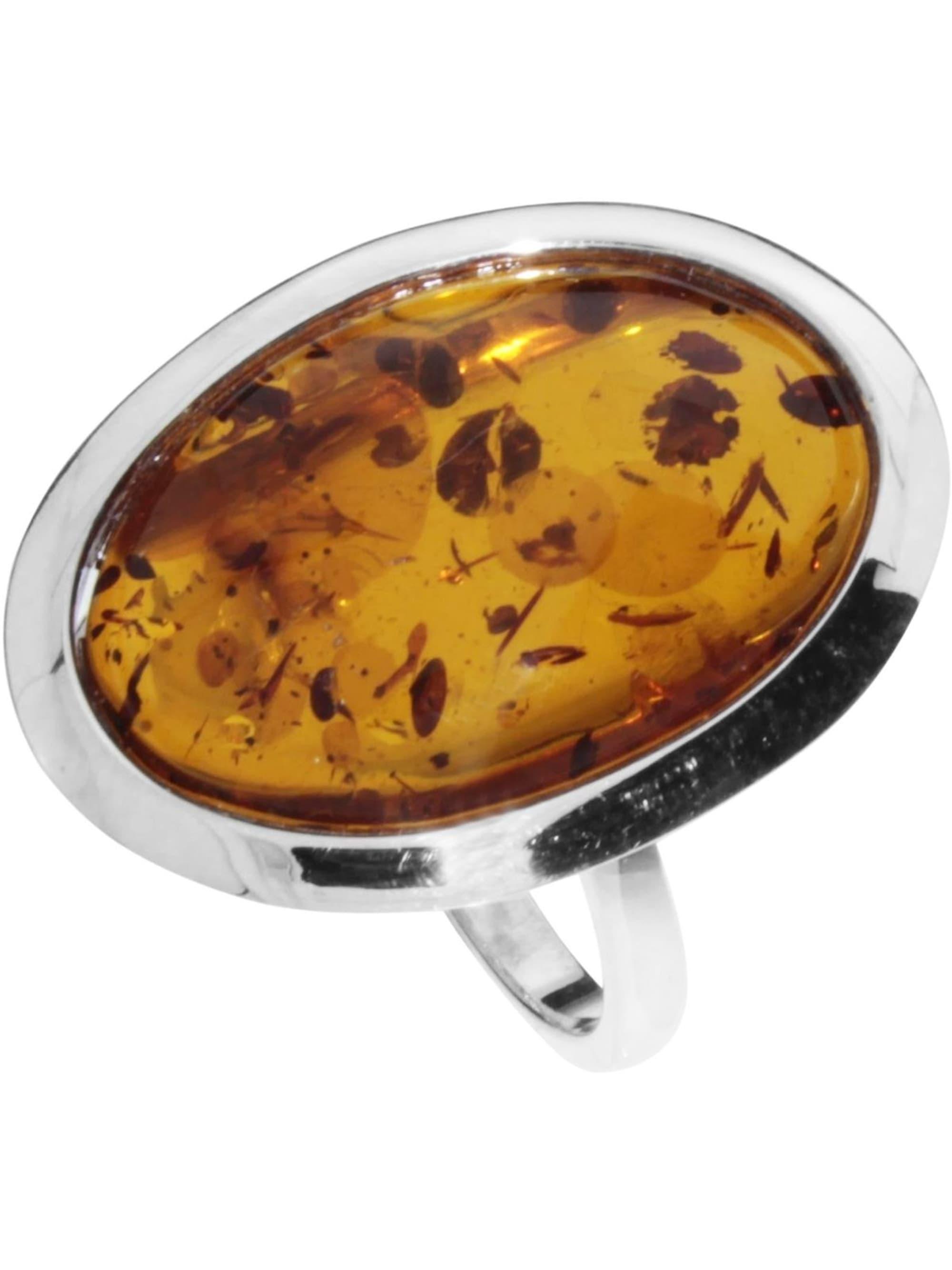 OSTSEE-SCHMUCK Ring Birka Silber 925/000 Bernstein aH8Jz