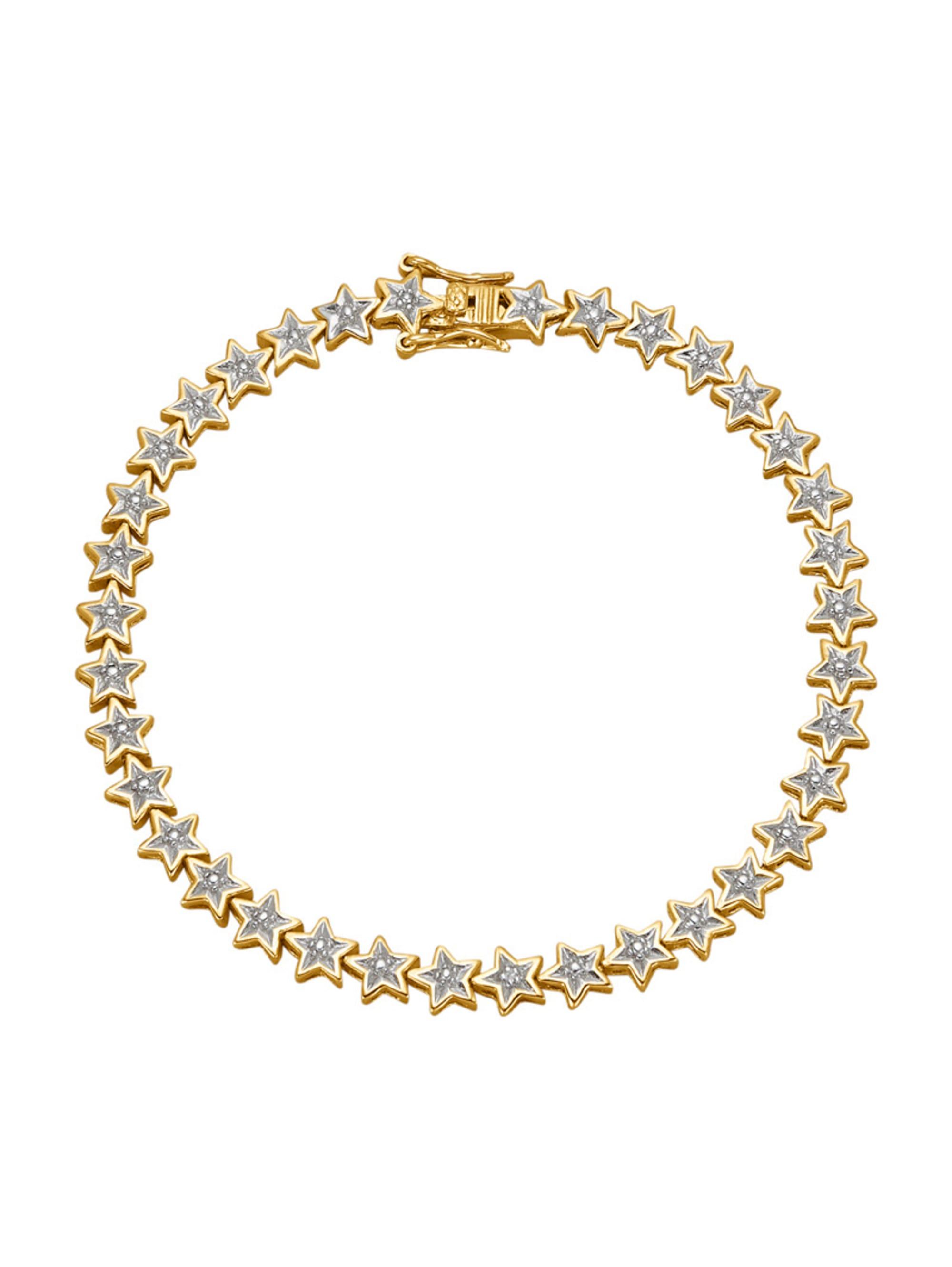 Stern-Armband mit Diamant 1GhUg